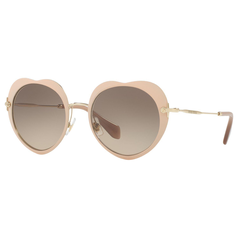 0926bbbadde Miu Miu Mu 54rs Oval Sunglasses in Brown - Lyst