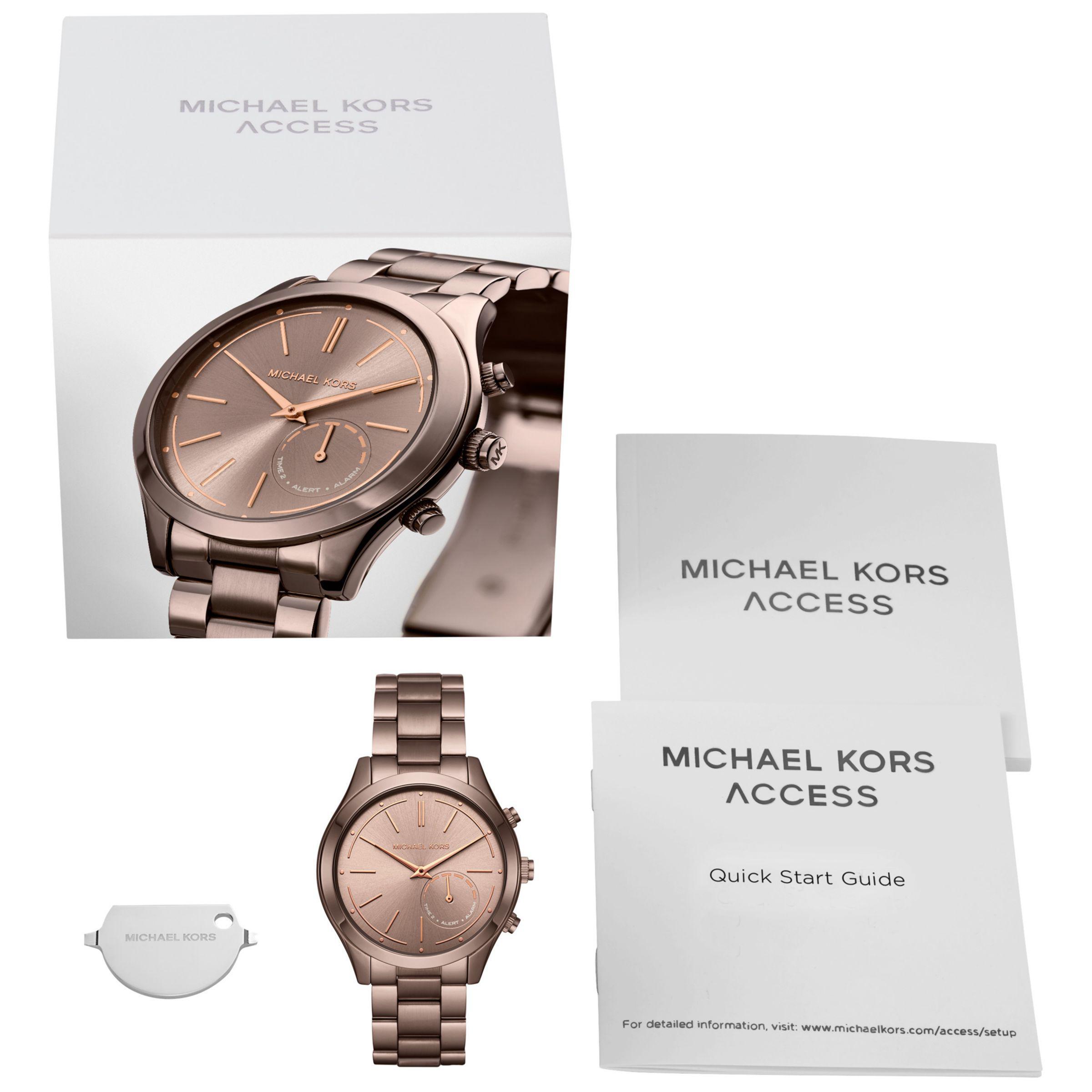 51cdb7ba4 Michael Kors Access Women's Slim Runway Bracelet Strap Hybrid ...