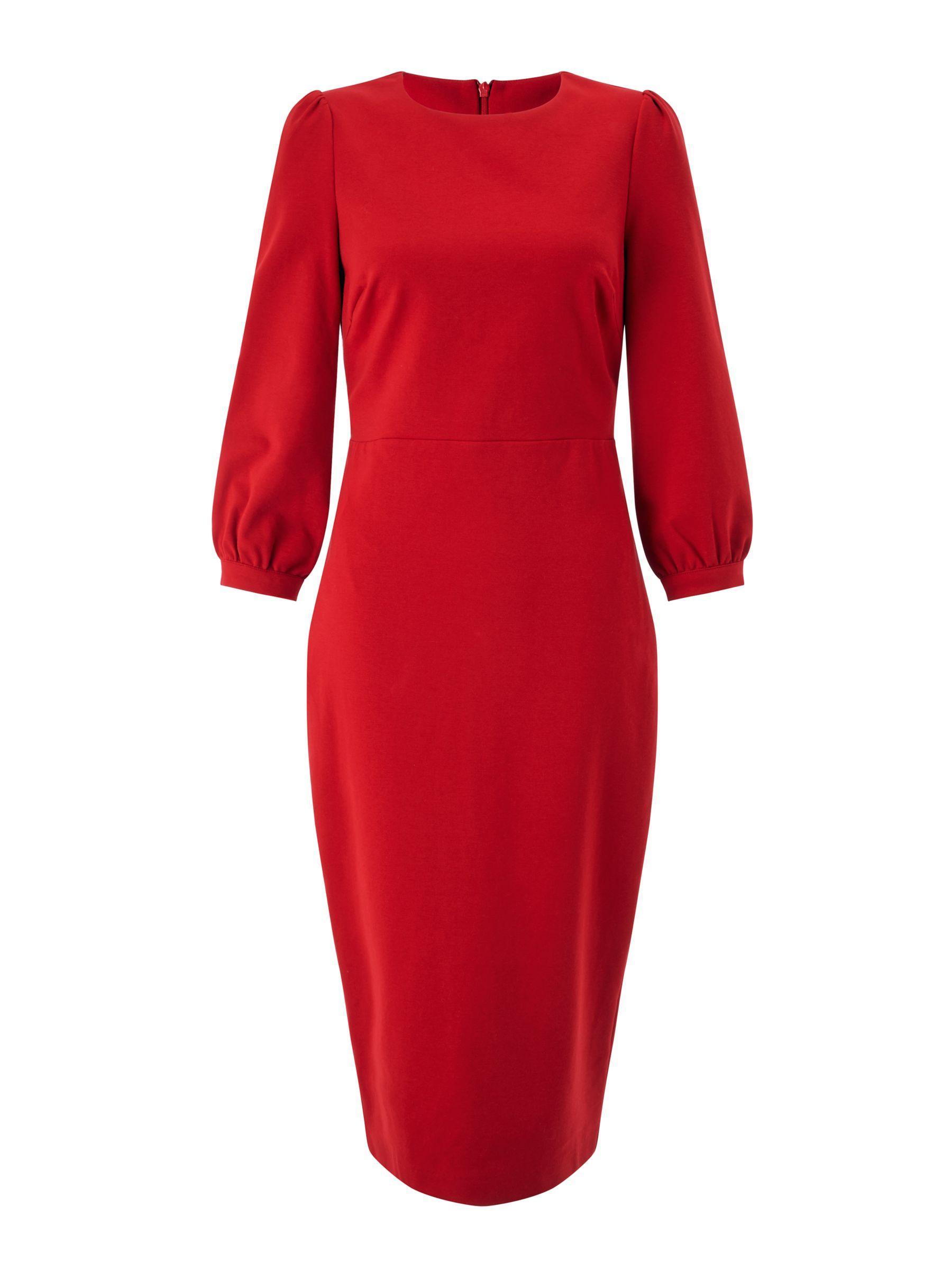 Boden Josephine Tie Waist Dress In Red Lyst