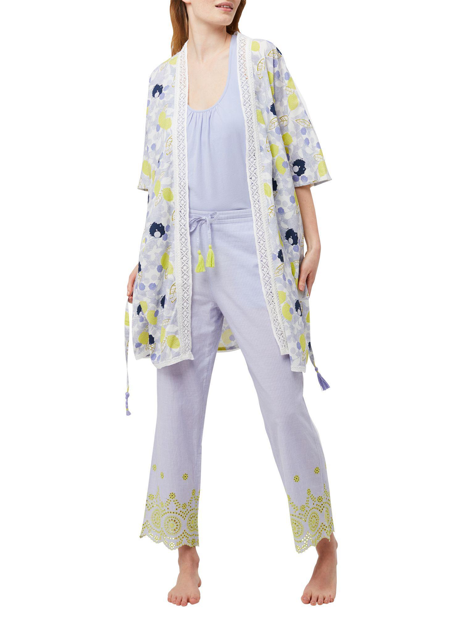 White Stuff Amelie Lemon Dressing Gown in Blue - Lyst