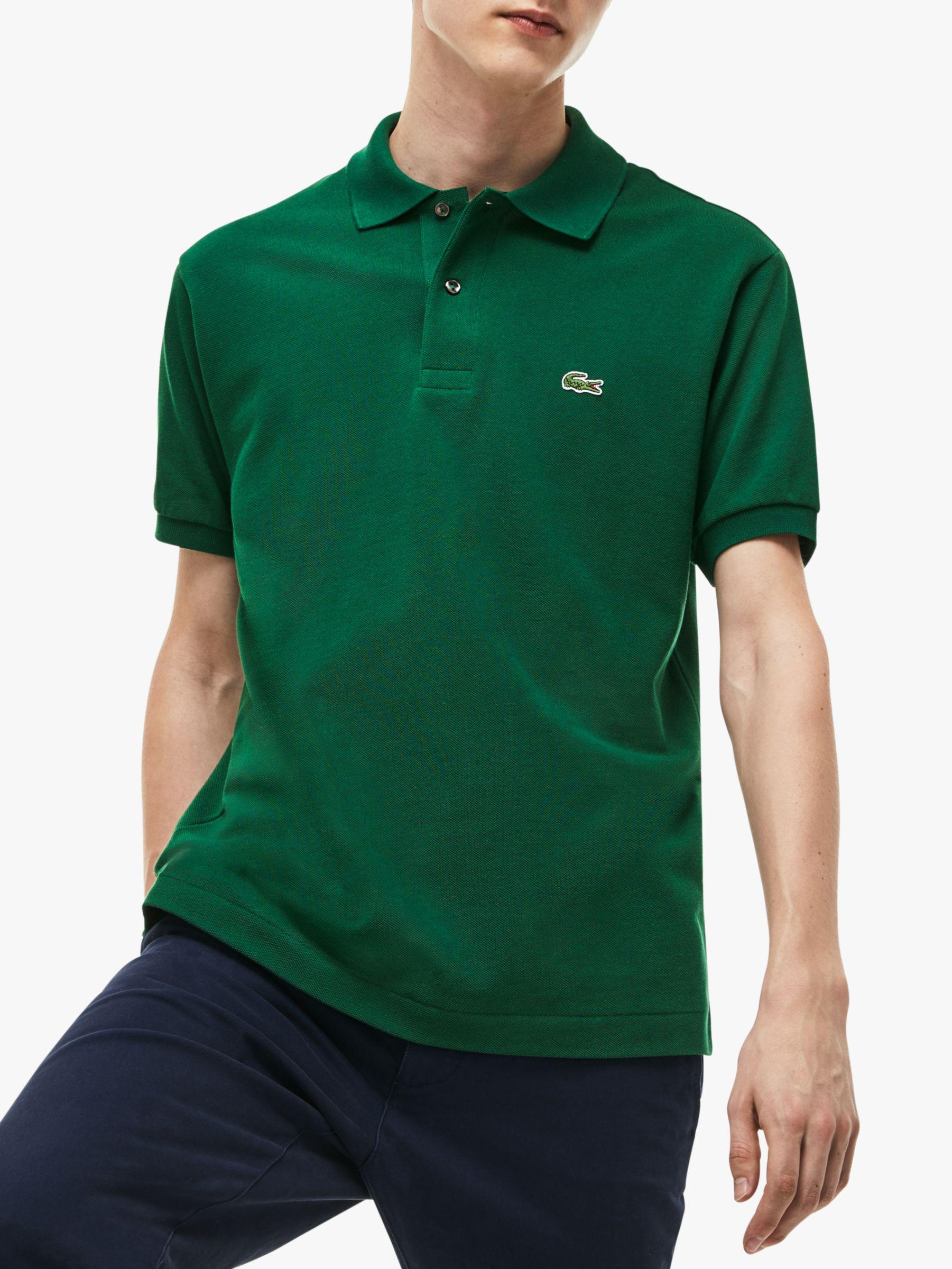 852ce25e Lacoste. Men's Green L.12.12 Classic Regular Fit Short Sleeve Polo Shirt.  £79 From John Lewis ...