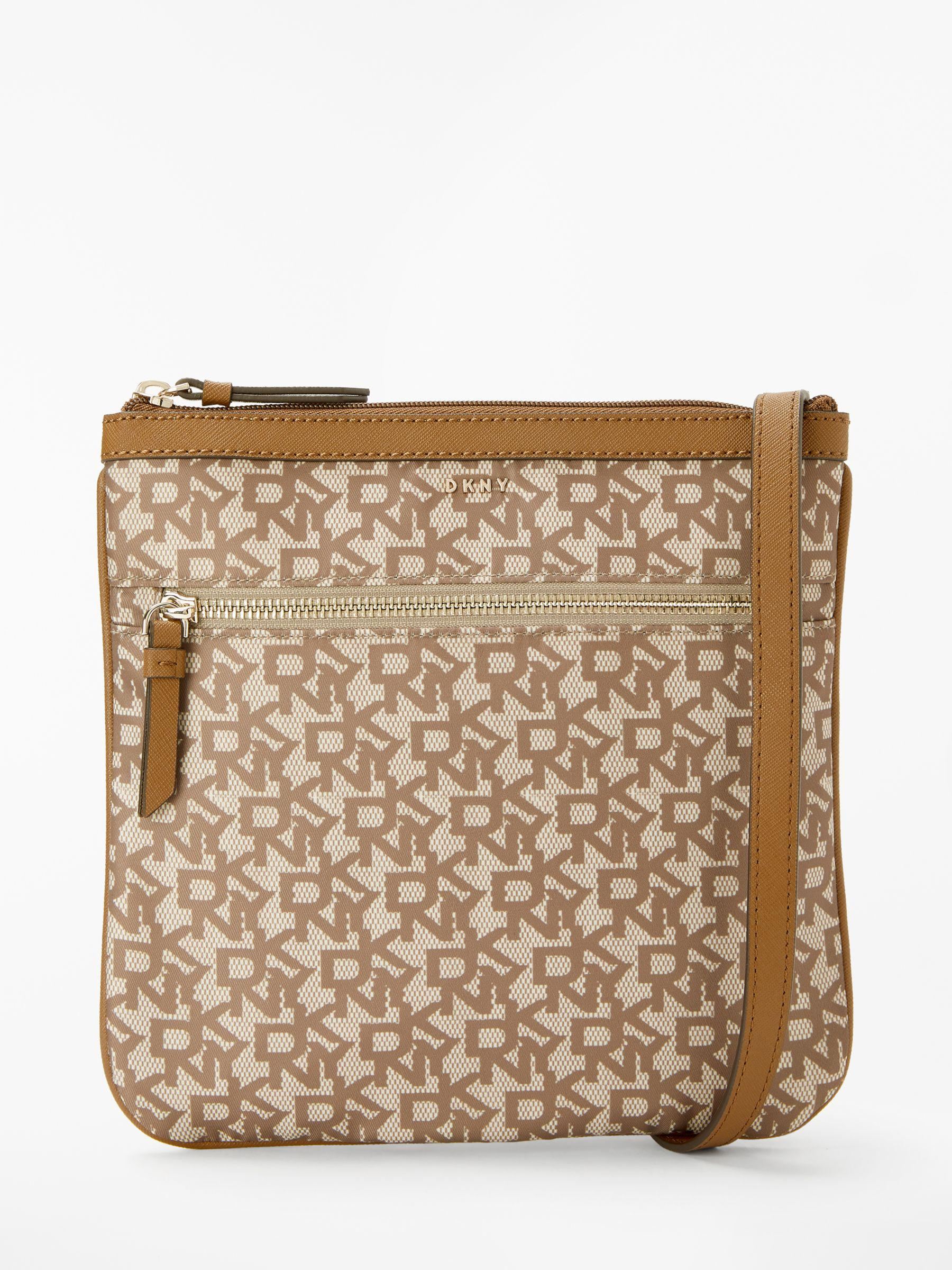 DKNY Casey Signature Cross Body Bag in Brown - Lyst 072a7216d9a28