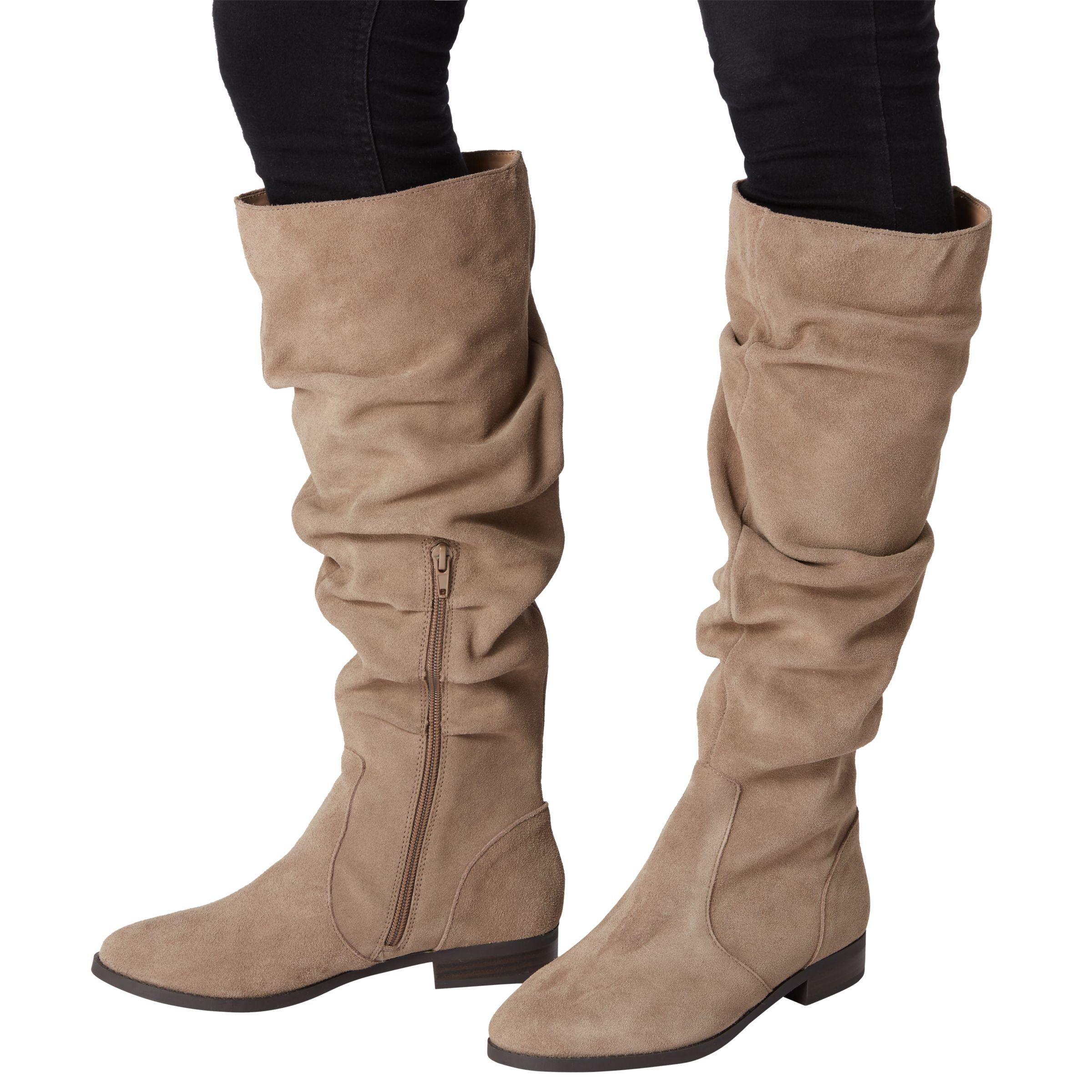 eccbb977ff8 Steve Madden Beacon Ruched Knee High Boots in Brown - Lyst