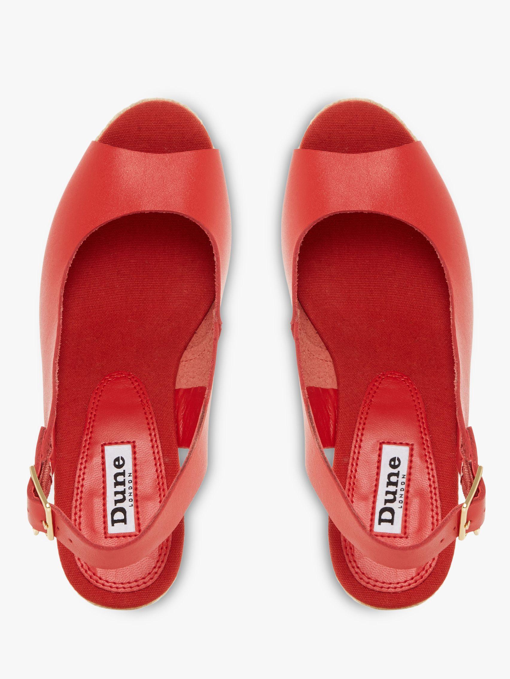 5088e56920ae Dune - Red Klicks Wedge Heel Sandals - Lyst. View fullscreen