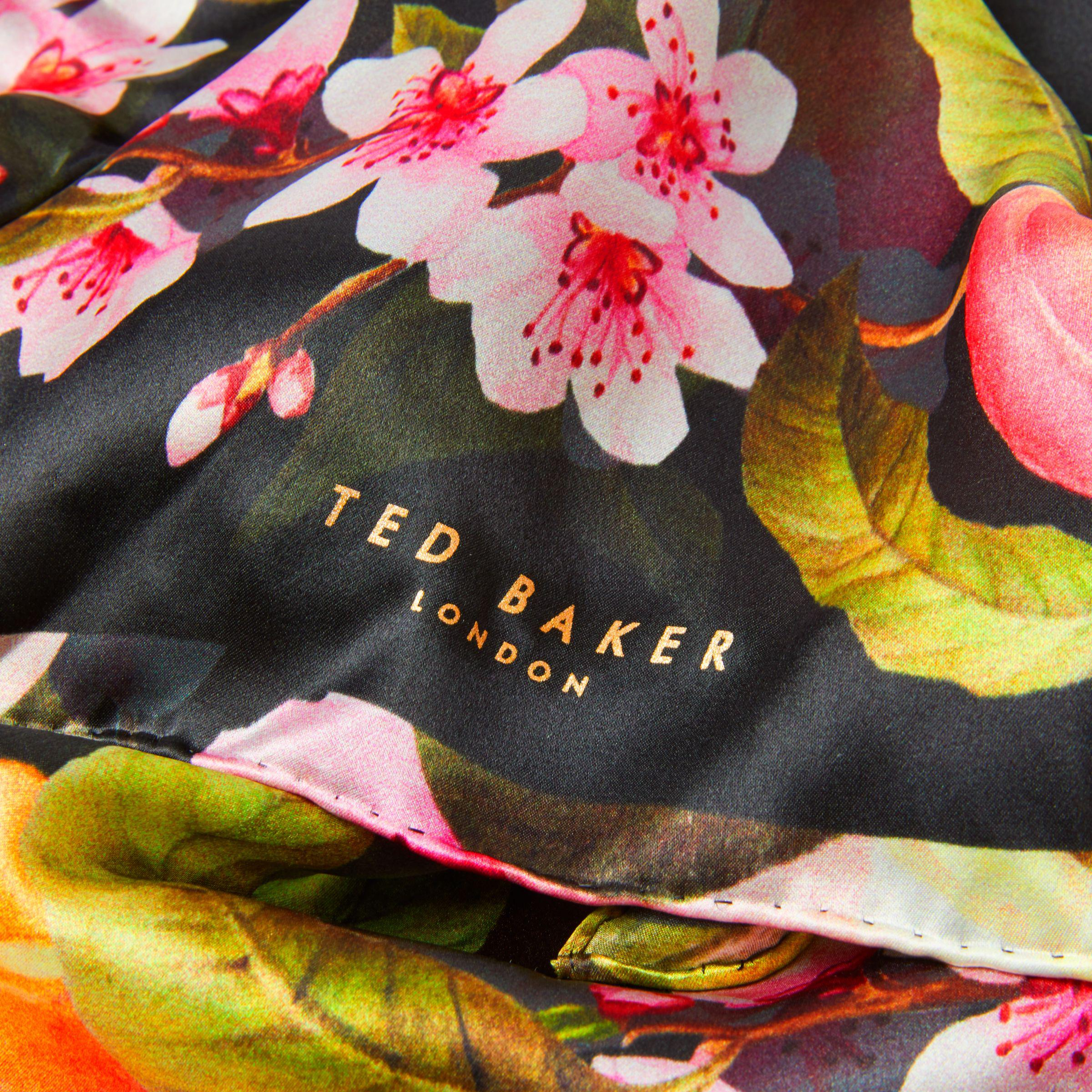 8f307219ca4d John Lewis Ted Baker Primula Peach Blossom Silk Scarf in Black - Lyst