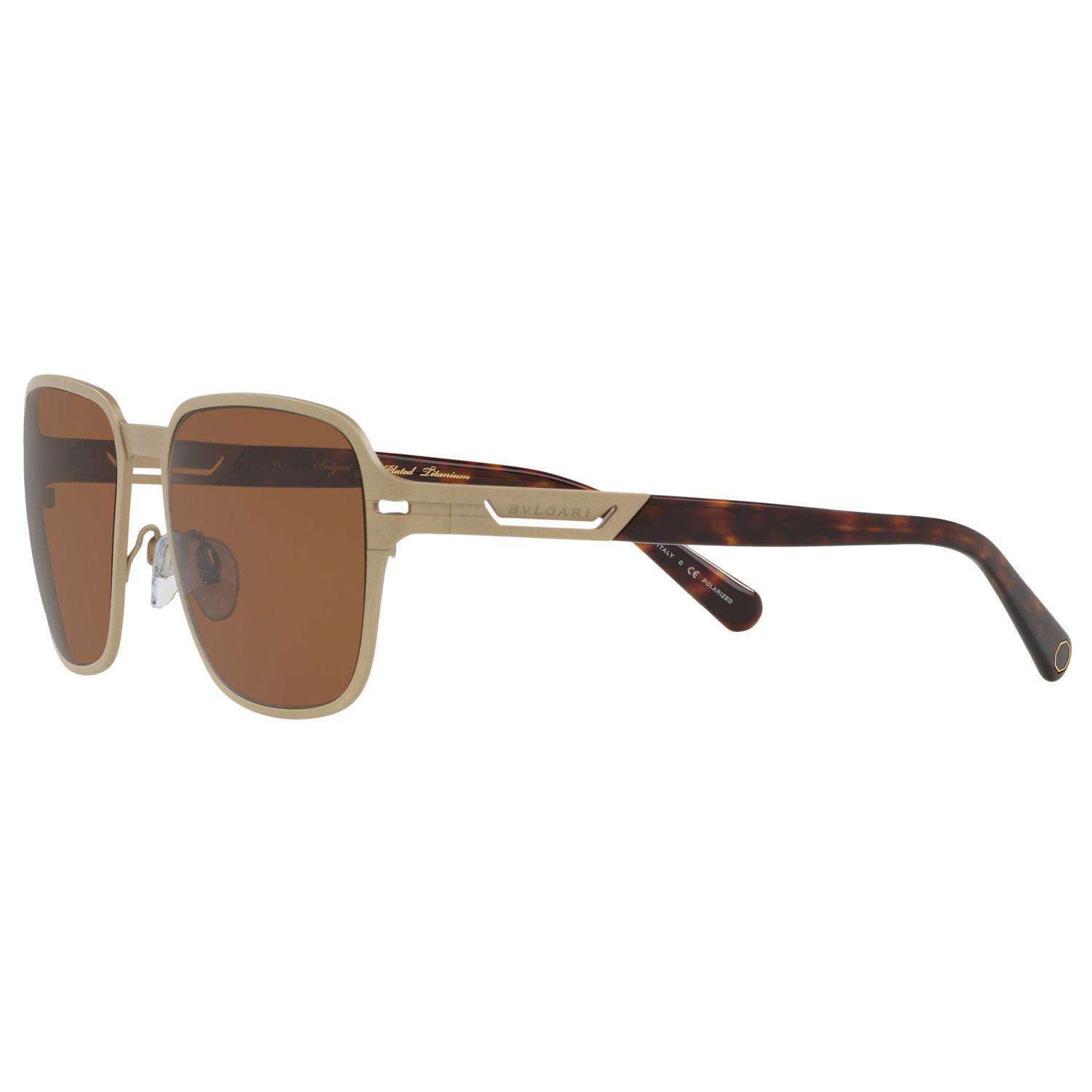 a03ca5dba3 BVLGARI - Brown Bv5046tk Men s Polarised Titanium Square Sunglasses for Men  - Lyst. View fullscreen