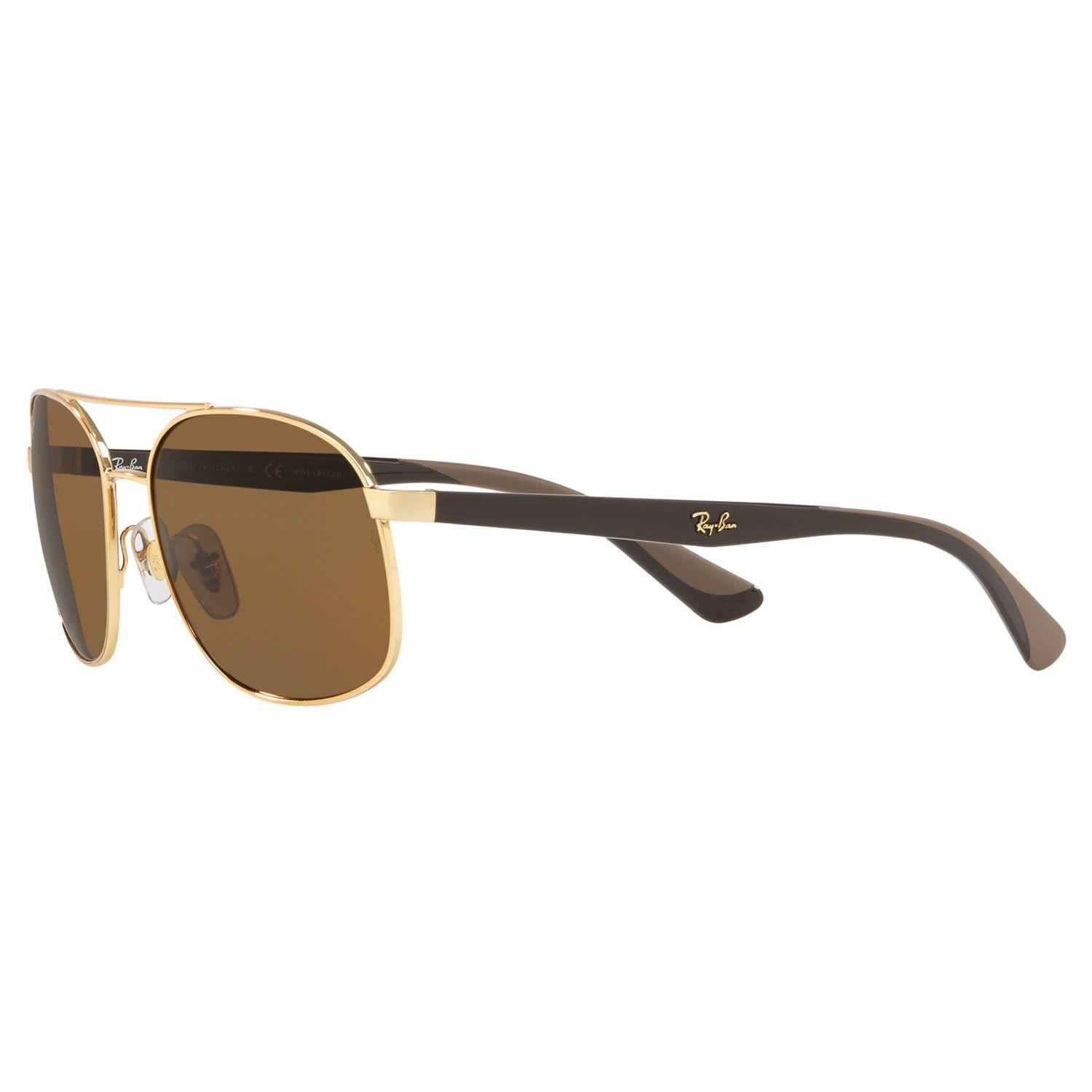 11edf17a4863d Ray-Ban - Brown Rb3593 Unisex Polarised Oval Sunglasses for Men - Lyst.  View fullscreen
