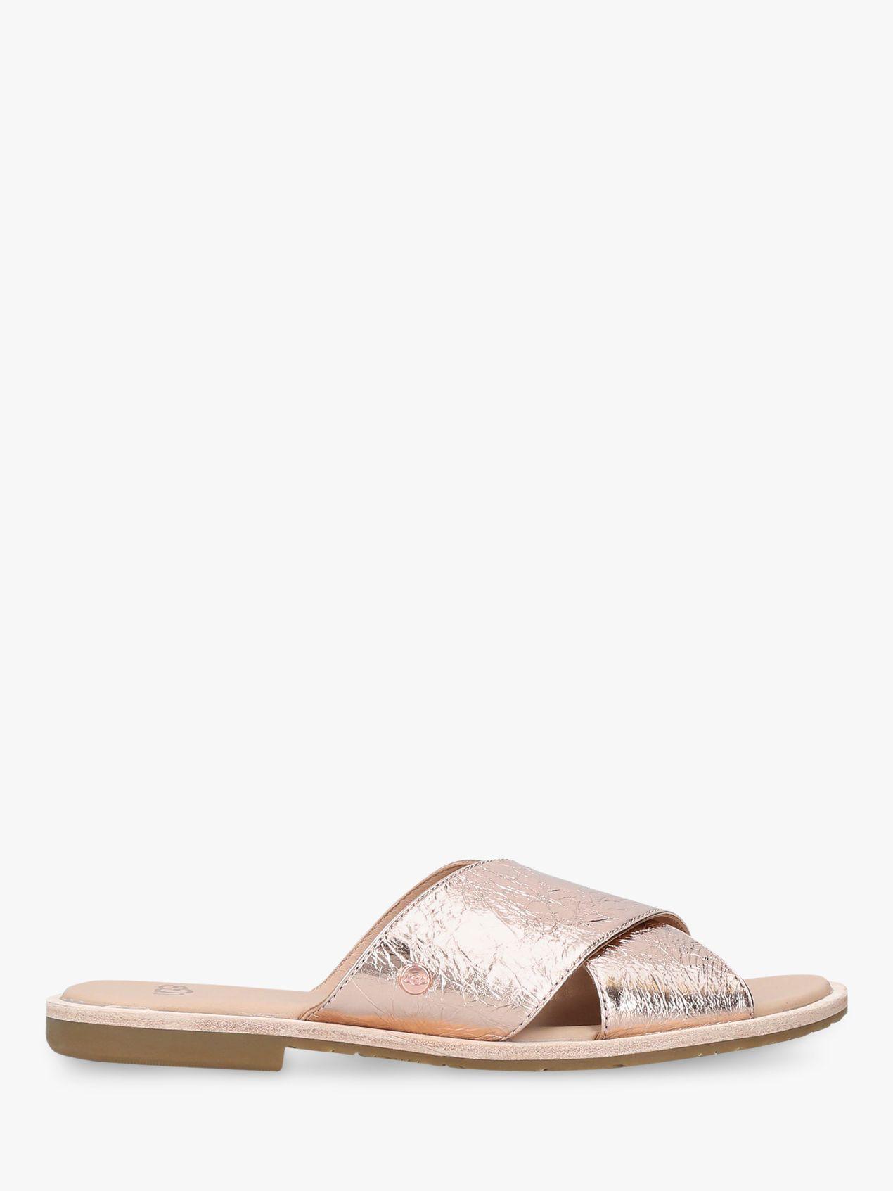 f4be7269224 UGG Joni Cross Strap Slip On Sandals - Lyst