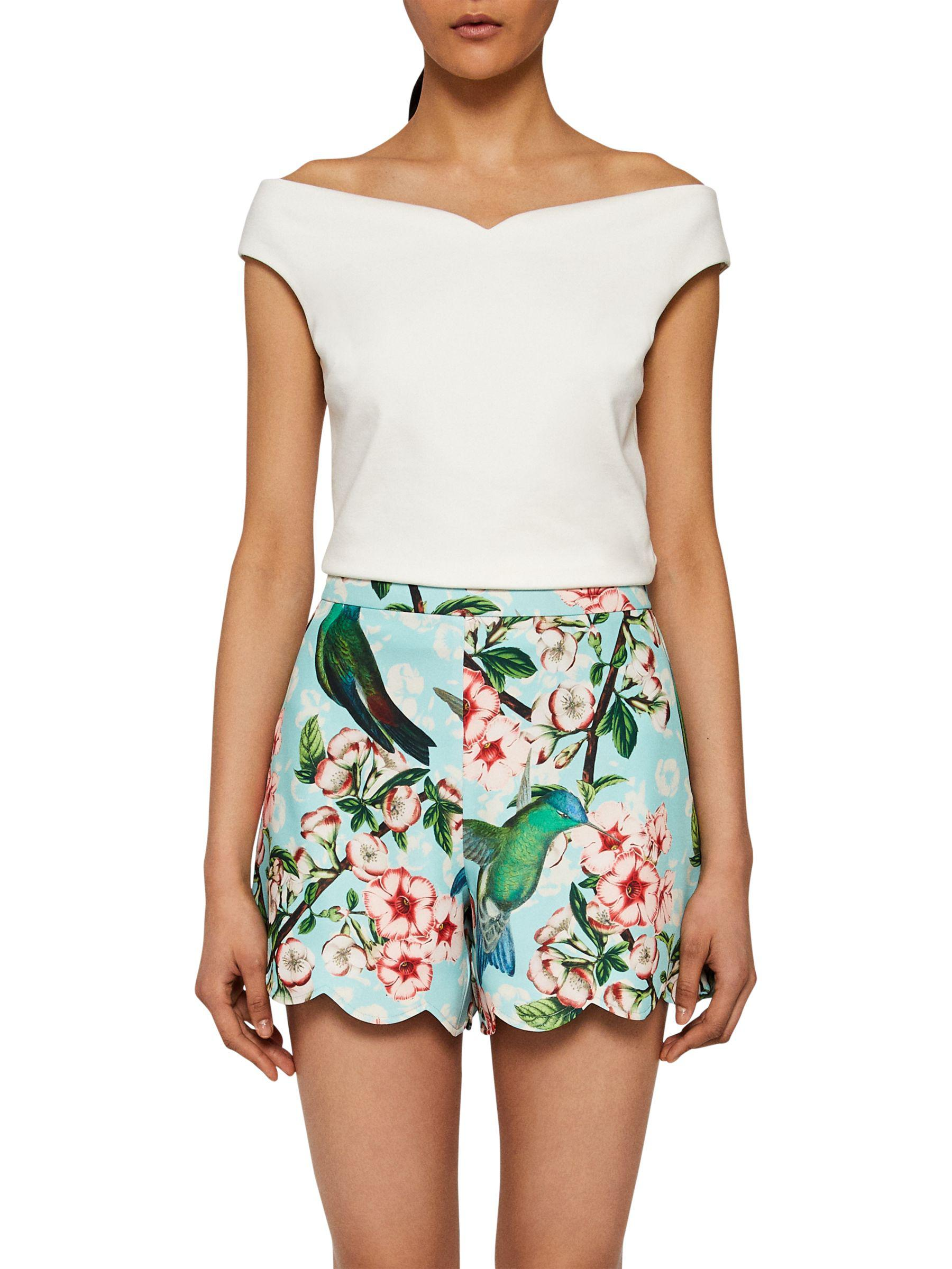 Baker Print In Scalloped Lyst Ted Shorts Green Nectar Fura dtcYWpwpqT