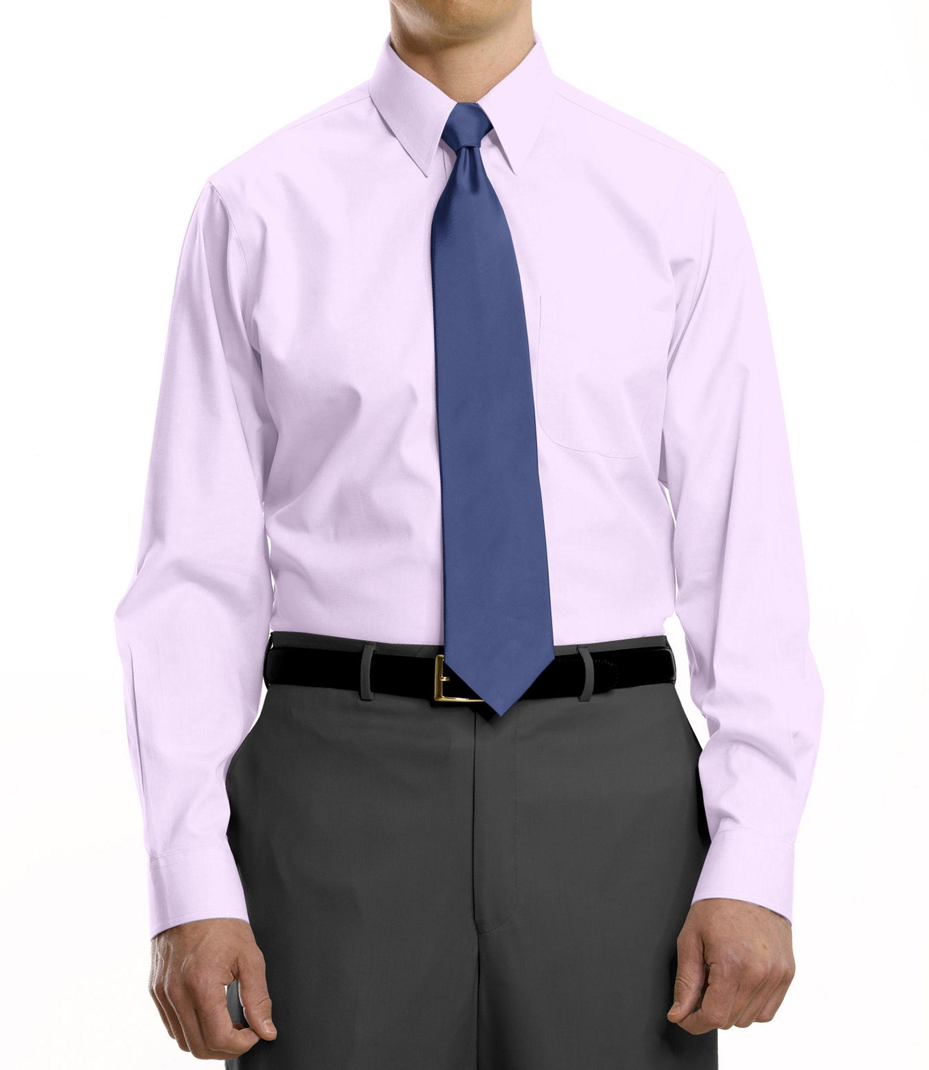 Lyst jos a bank traveler collection traditional fit for Dress shirt collar fit