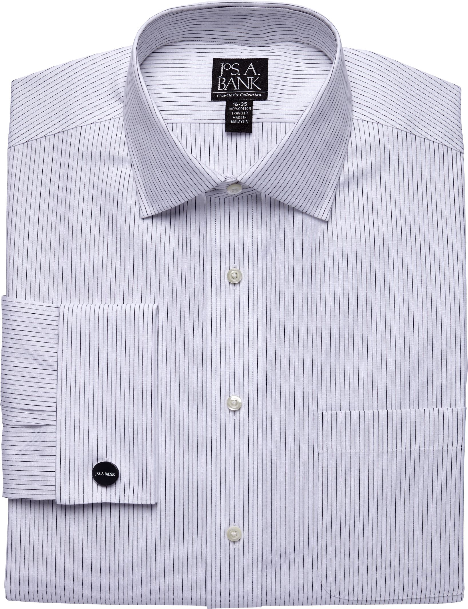 Lyst jos a bank traveler collection traditional fit for Spread collar dress shirt without tie
