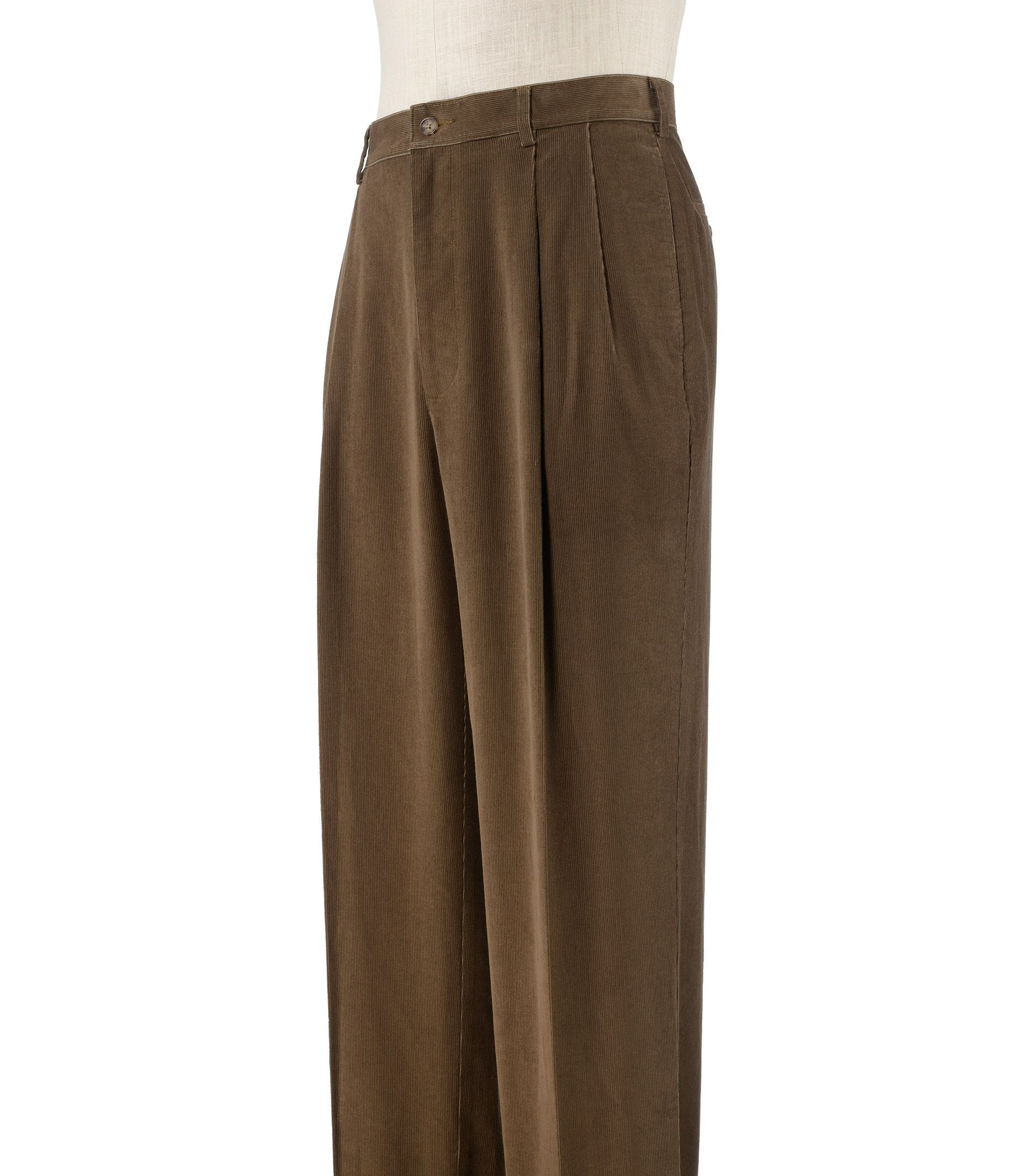 Jos A Bank Executive Traditional Fit Pleated Corduroy