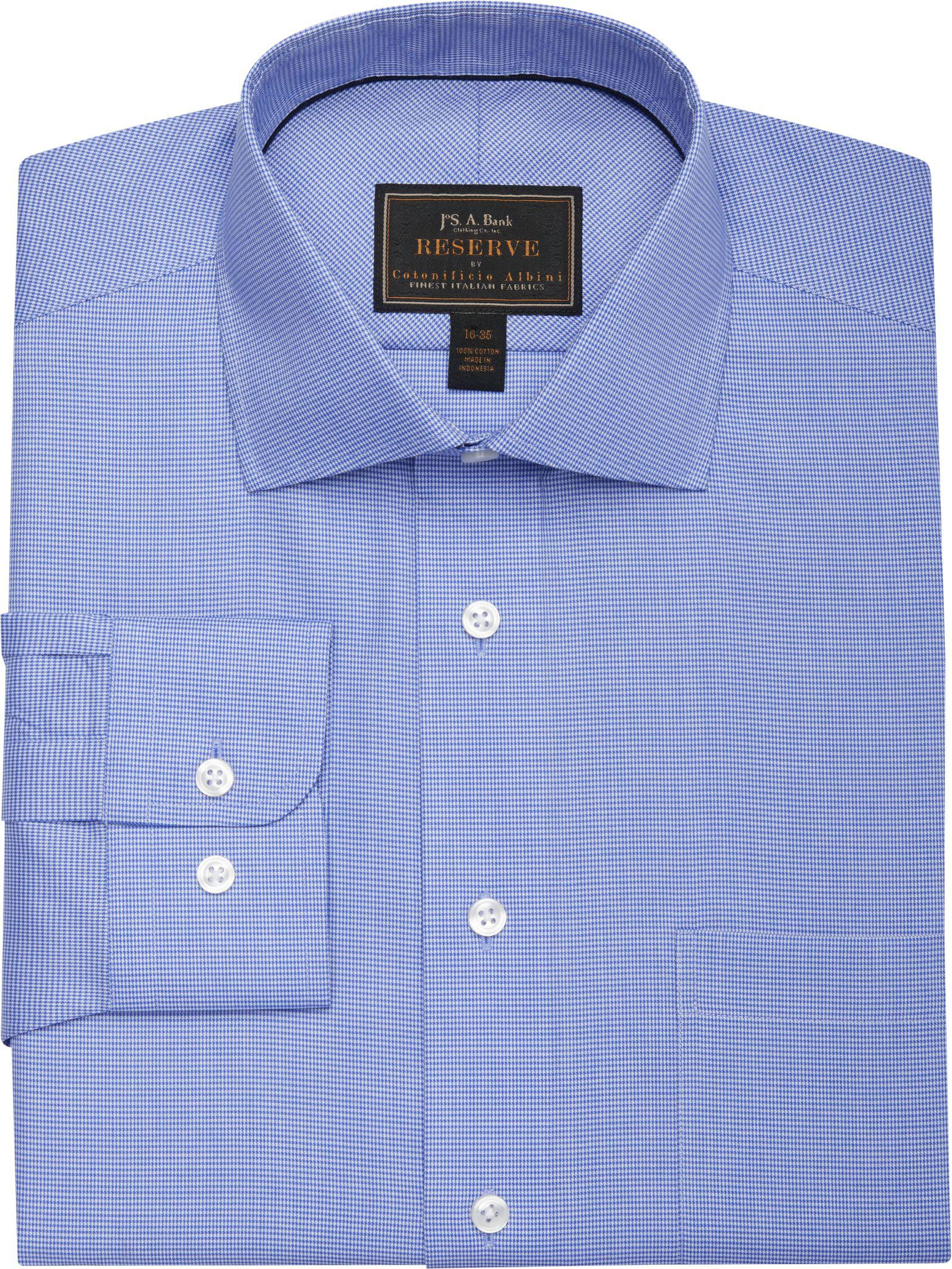 Lyst jos a bank reserve collection tailored fit spread for Joseph banks dress shirts