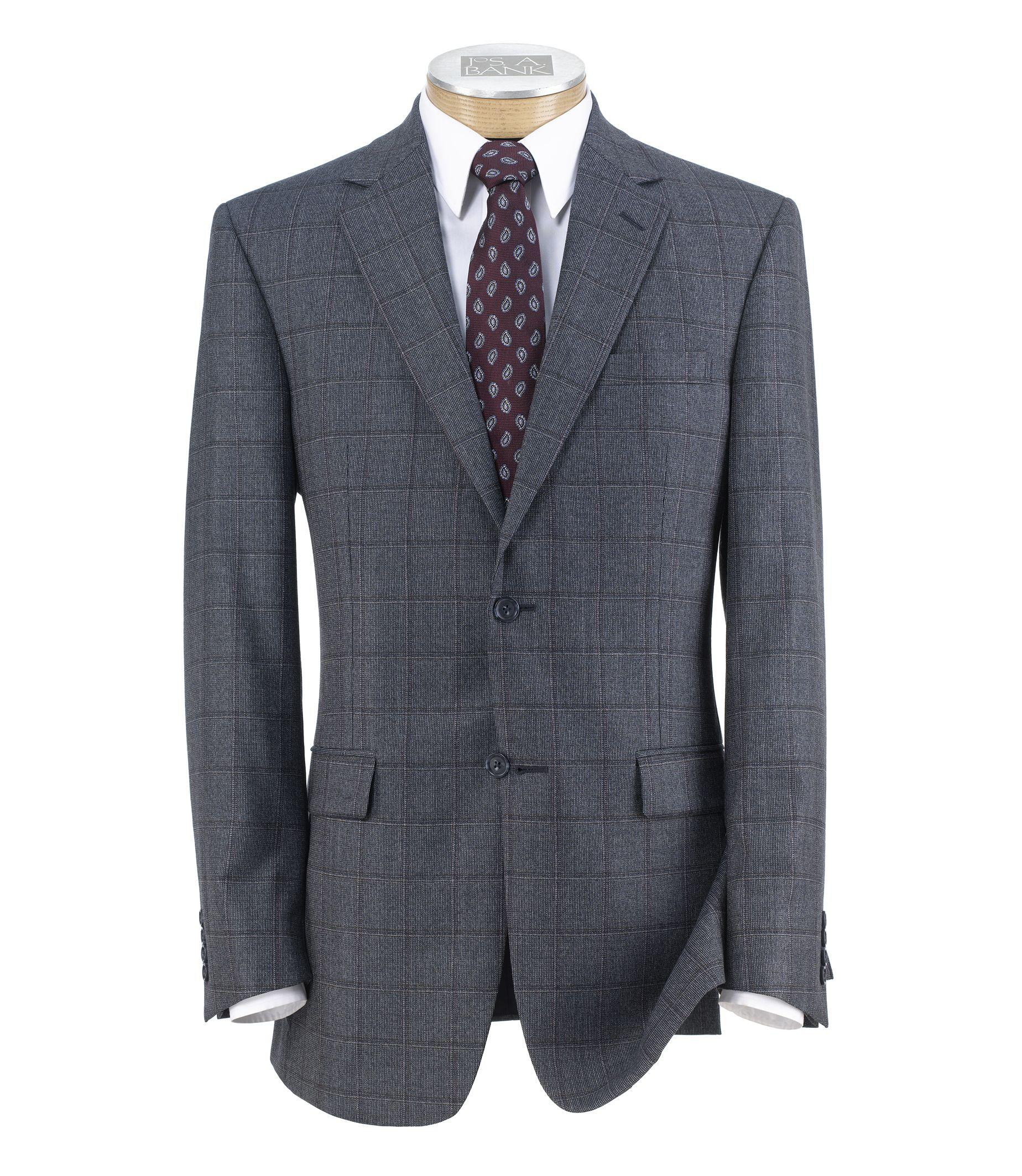 Jos. a. bank Traveler Wool Tailored Fit 2-button Sportcoat ...
