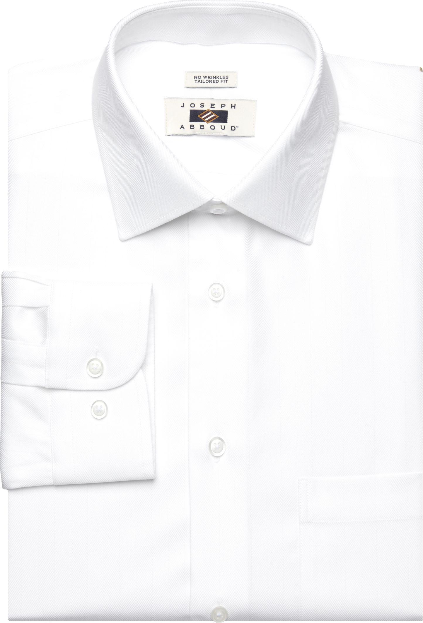 Lyst jos a bank joseph abboud tailored fit spread for White herringbone dress shirt