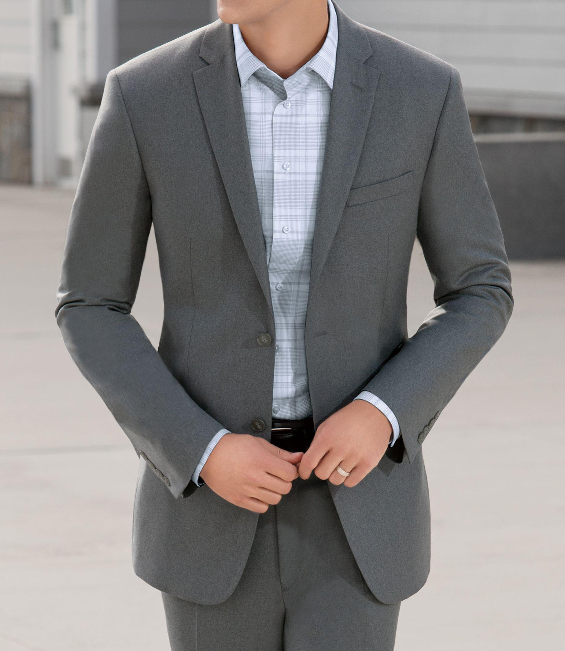 Jos a bank joseph slim fit 2 button suit jacket big and for Jos a bank slim fit vs tailored fit shirts