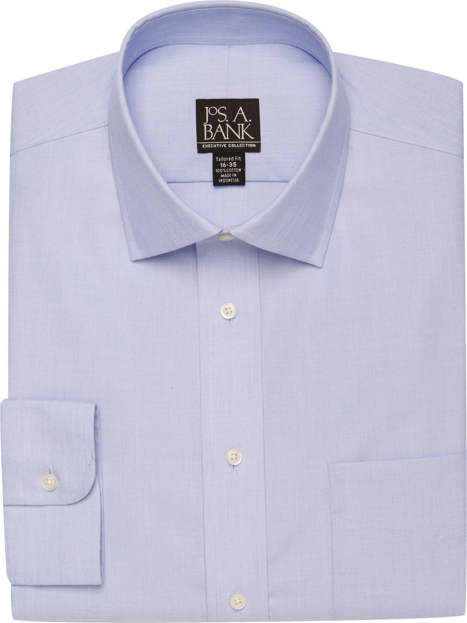 Lyst jos a bank executive collection spread collar for Dress shirt collar fit