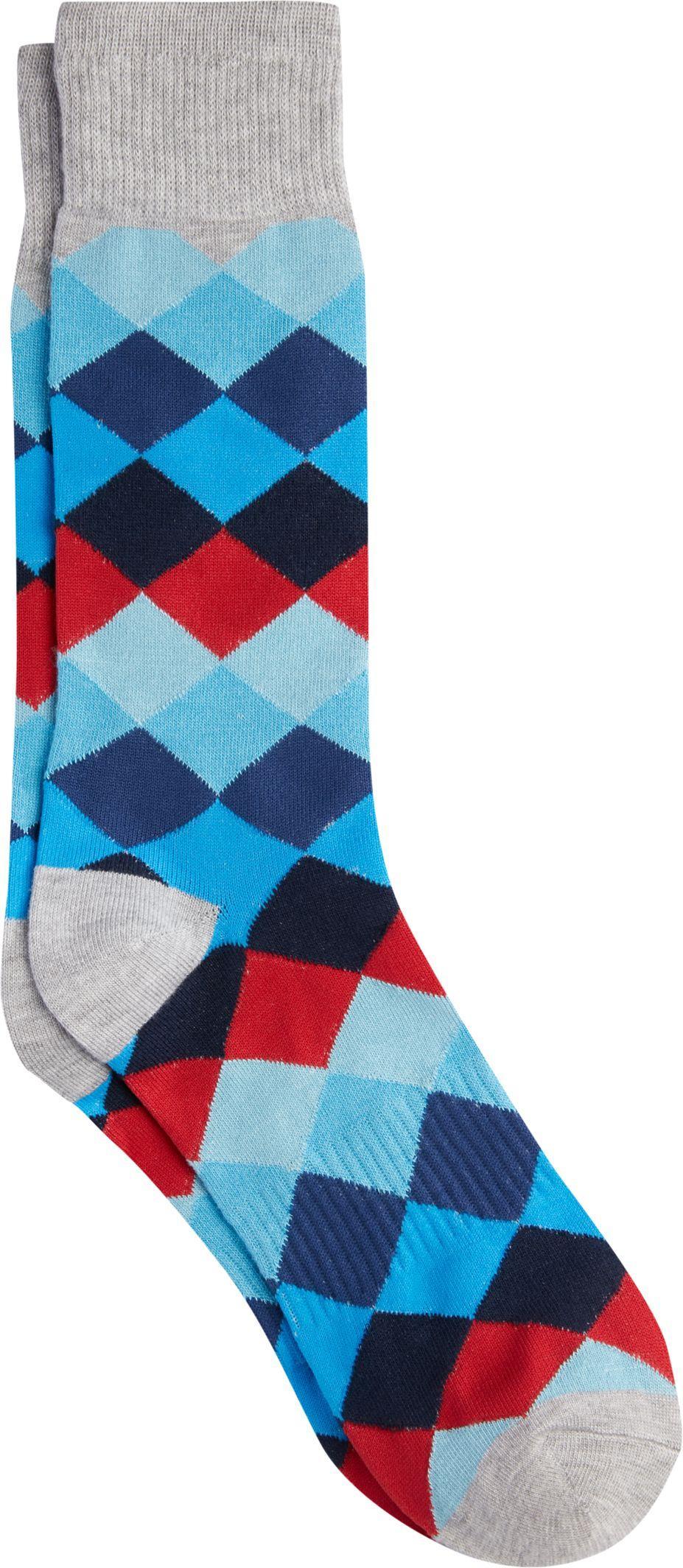 c0997dd3ceeb Lyst - Jos. A. Bank Diamond Dress Socks in Gray for Men