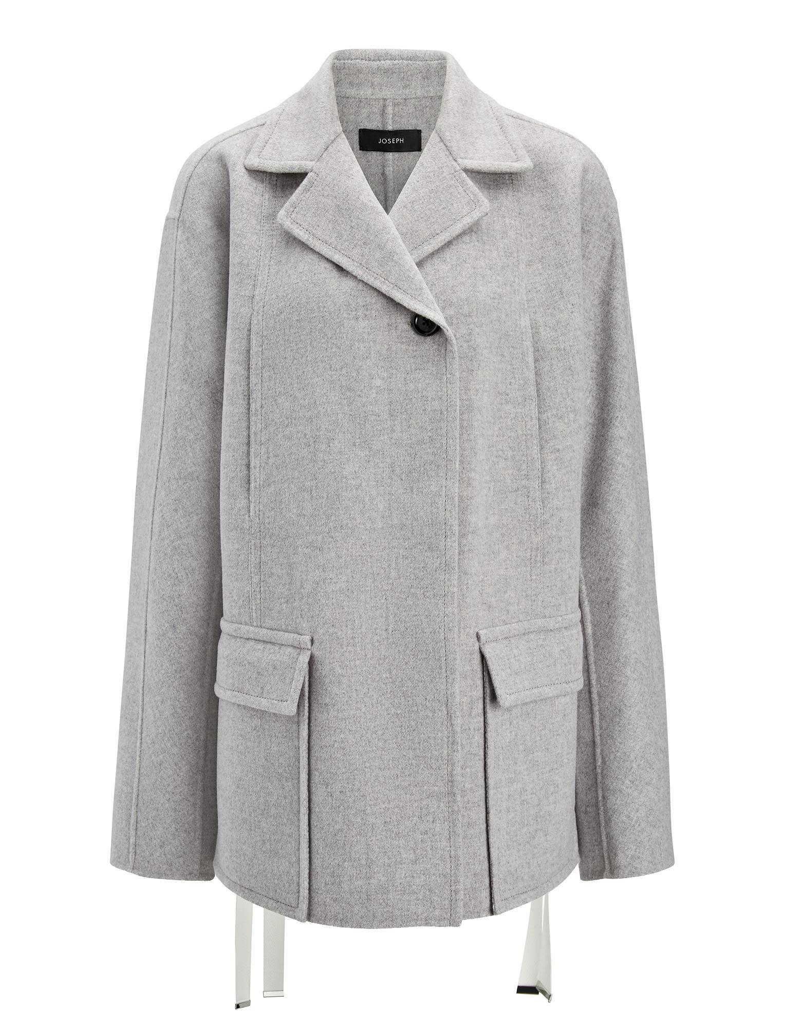 Lyst - Joseph Double Wool Caplan Short Coat in Gray