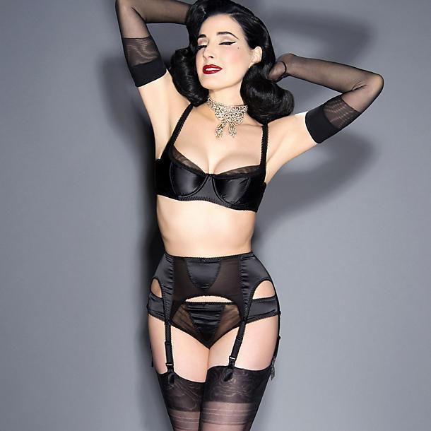 082cf9670ae9b Lyst - Dita Von Teese Sheer Witchery Satin Bikini in Black