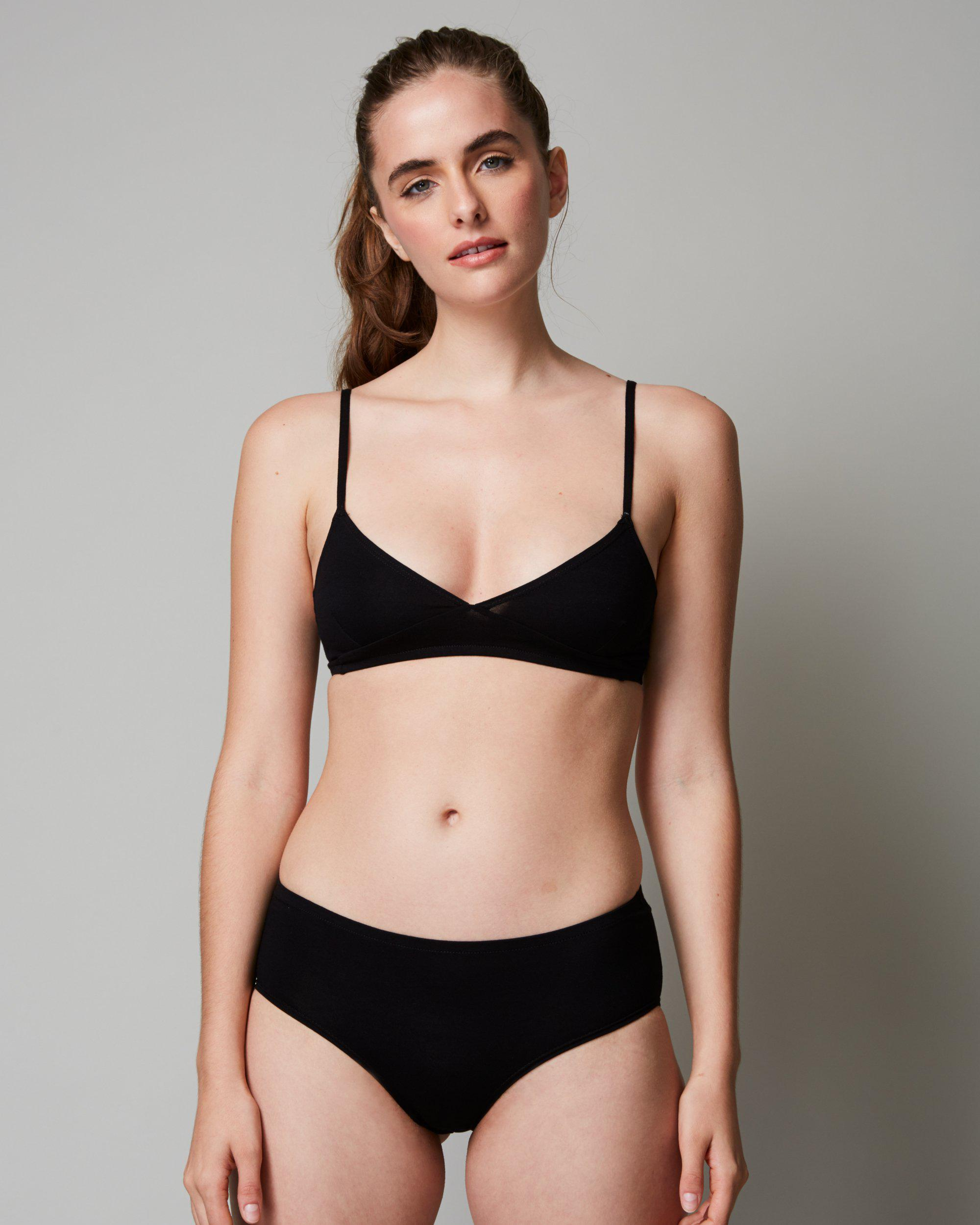 f3b7fca1897 Lyst - Only Hearts So Fine Layering   Lounge Bralette in Black