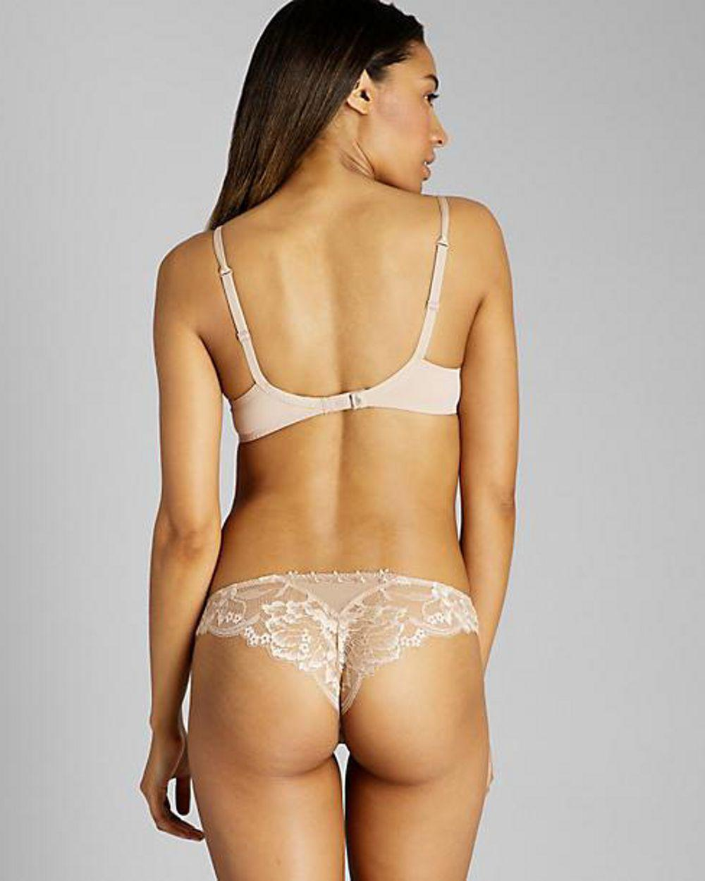 78ad785784 Lyst - Simone Perele Amour 3d Plunge Bra in Natural