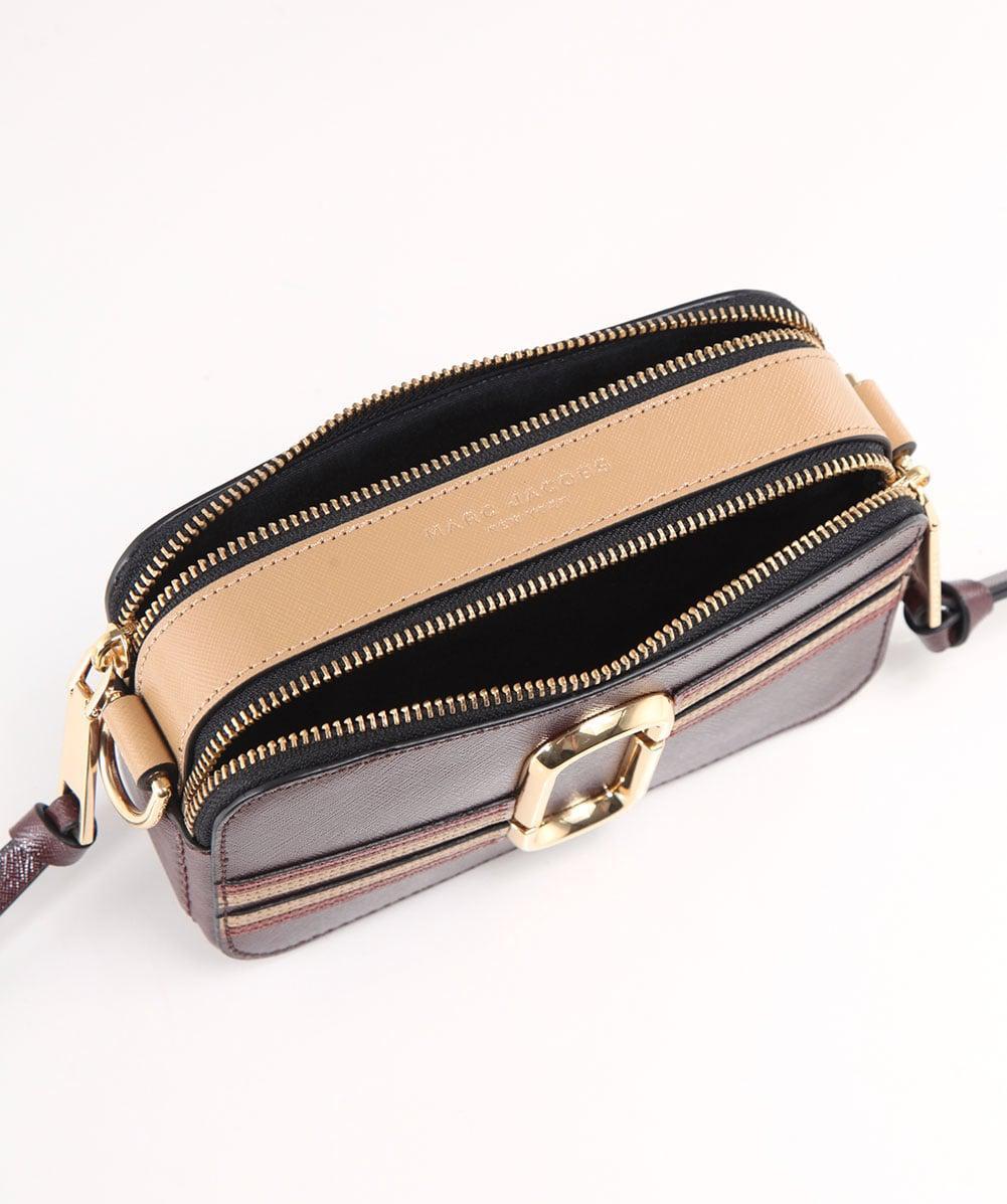 6b4e934961da Lyst - Marc Jacobs Contrast Stripe Snapshot Camera Bag in Brown