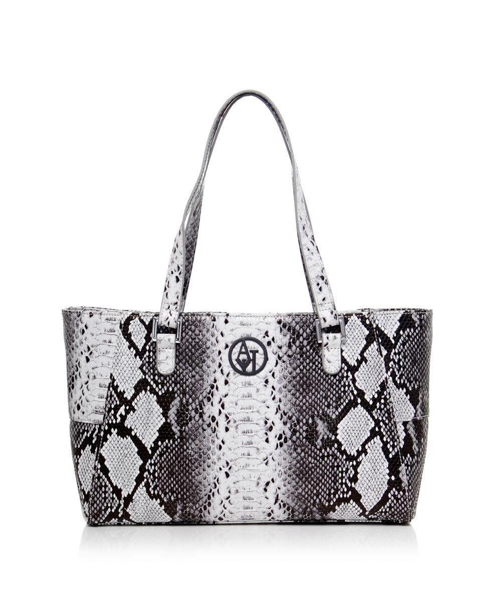 Armani Jeans Snake Print Small Shopper Bag in Gray - Lyst 034e50aab18ec