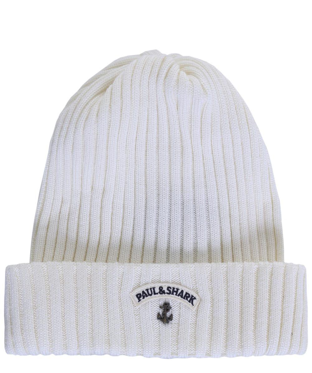 a08154c88 Paul & Shark Virgin Wool Beanie Hat in White for Men - Lyst