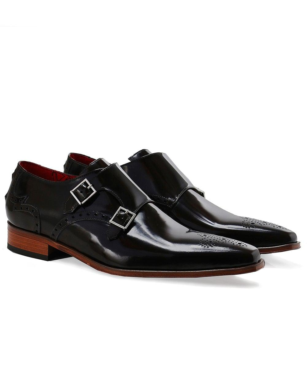 90c67d6c60f0 Jeffery West Patent Leather Double Monk Strap Shoes in Brown for Men ...