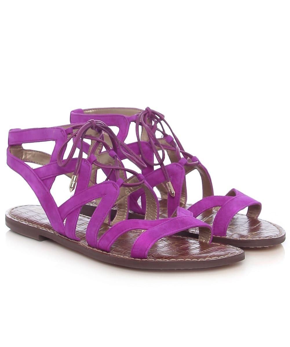 a5bffbb87eb Lyst - Sam Edelman Gemma Suede Sandals in Purple