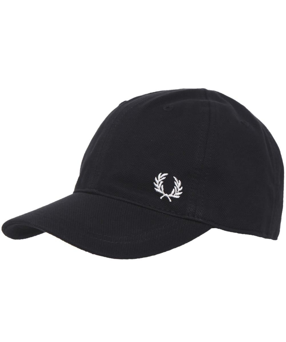 fred perry pique classic cap in black for men lyst. Black Bedroom Furniture Sets. Home Design Ideas