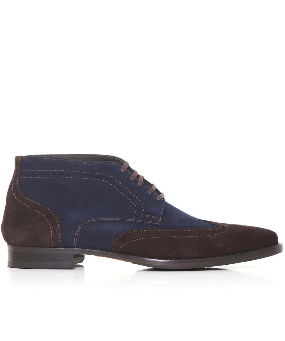 jules b suede chukka boots in blue for lyst