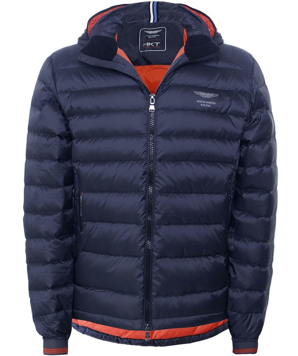 hackett aston martin racing down jacket in brown for men. Black Bedroom Furniture Sets. Home Design Ideas