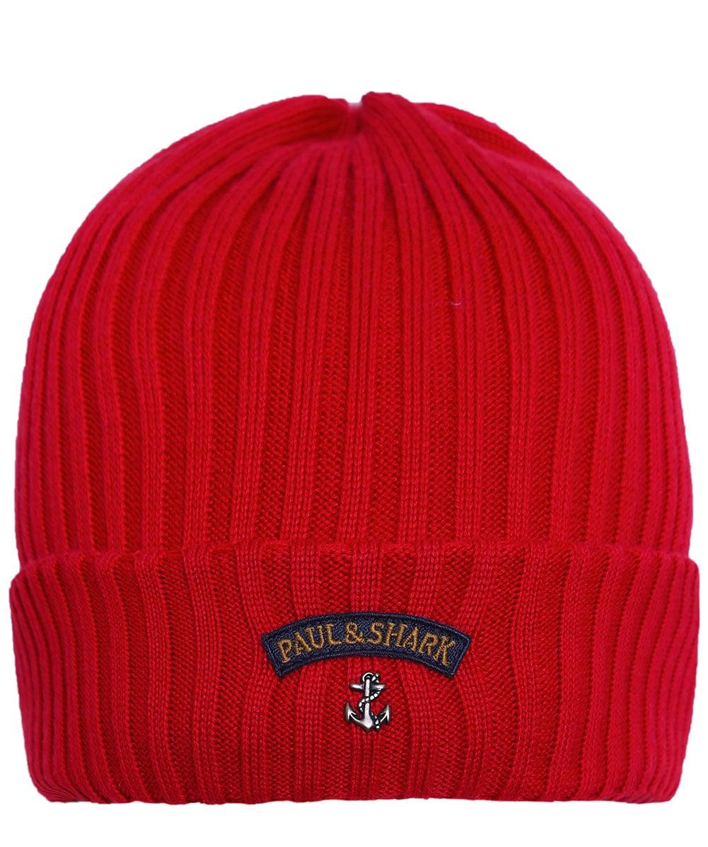 1daad7d89 Lyst - Paul & Shark Virgin Wool Logo Beanie Hat in Red for Men