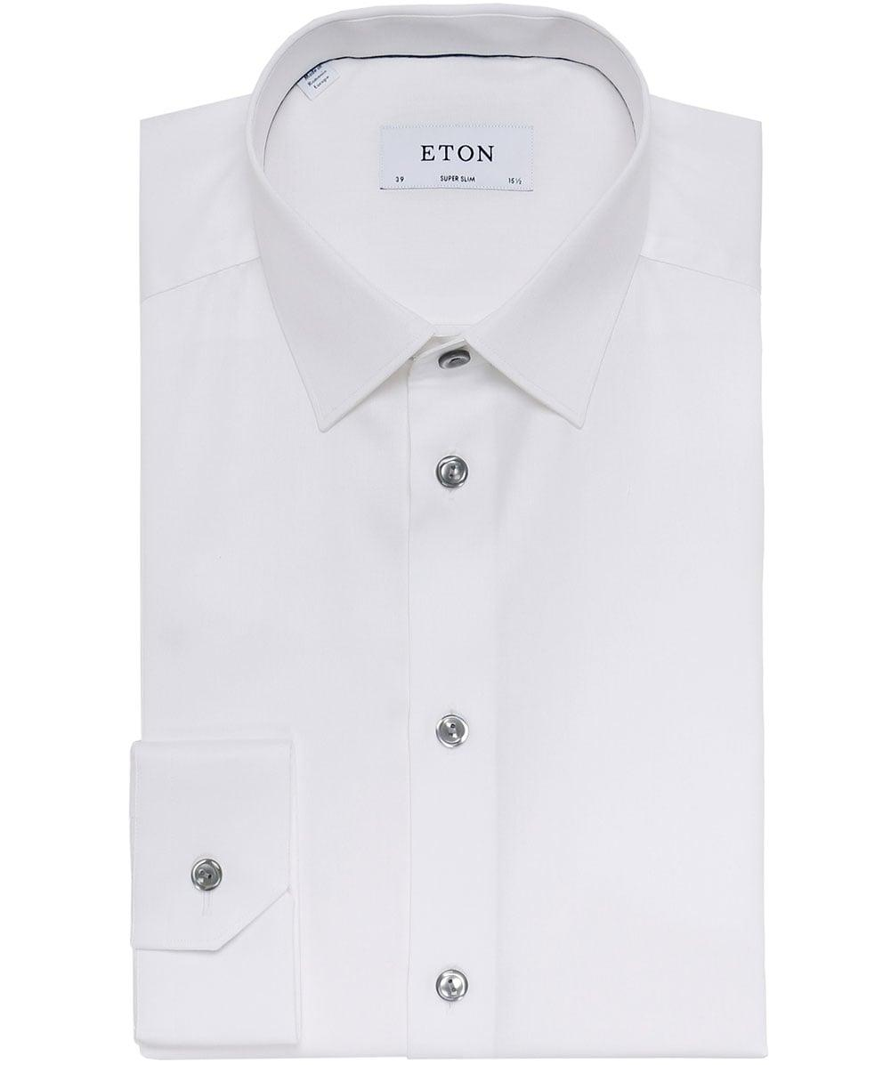 Eton Of Sweden Super Slim Fit Twill Shirt In White For Men