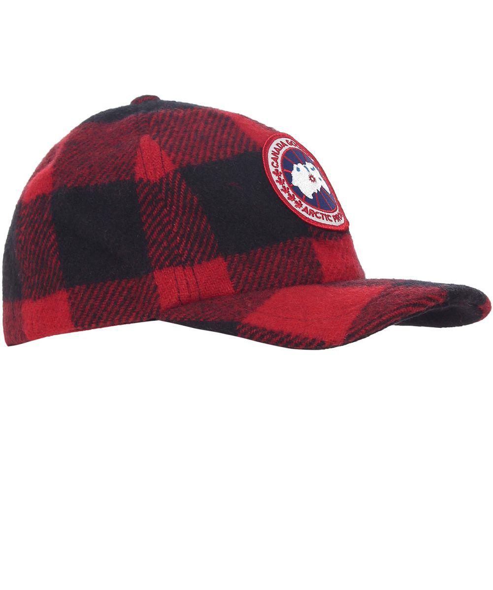e60508a98df Canada Goose Wool Buffalo Check Cap in Red for Men - Lyst