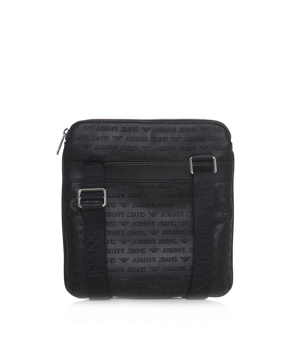 a9c580f064c Armani Jeans Logo Tablet Flight Bag in Black for Men - Lyst