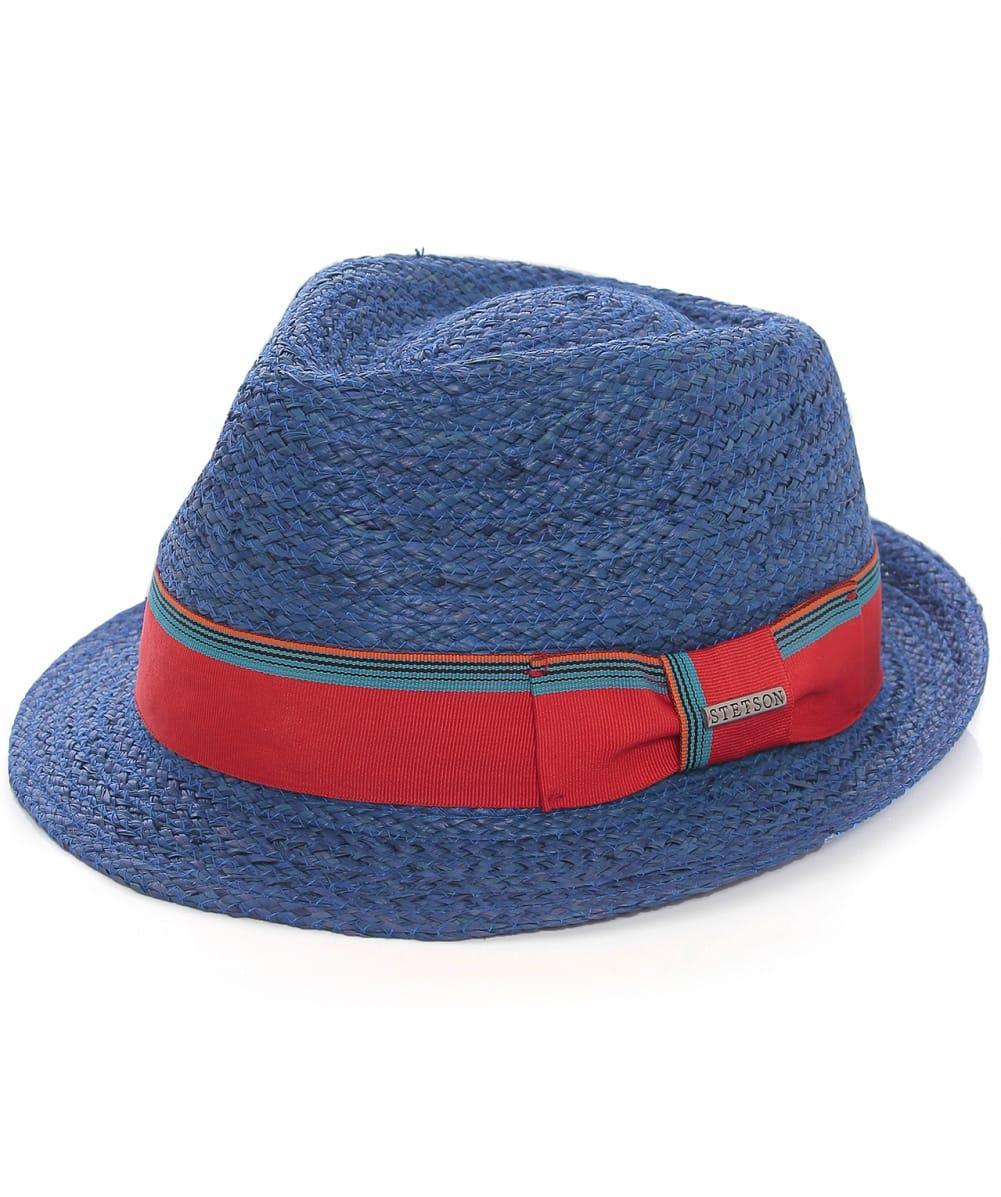 Stetson Sidney Raffia Straw Trilby Hat in Blue for Men - Lyst d69af7f26d3e