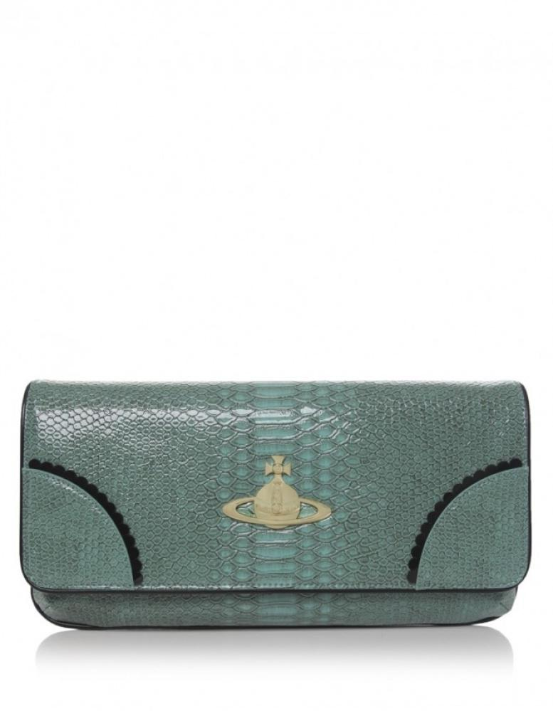 3d9a5c7f9e Vivienne Westwood Frilly Snake Clutch Bag - Lyst