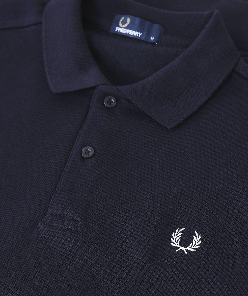 841e8603a Fred Perry Fleeceback Polo Shirt M5508 608 in Blue for Men - Save 13% - Lyst