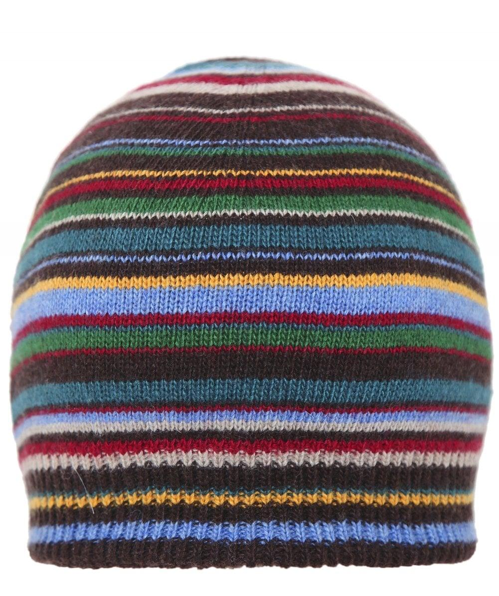 2c49f69b01a Lyst - Paul Smith Cashmere Blend Striped Beanie in Blue for Men ...