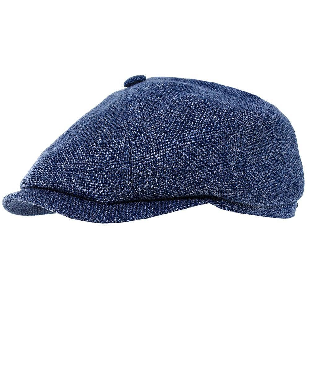 24cab12aac9 Lyst - Stetson Woven Linen Blend Hatteras Newsboy Cap in Blue for Men
