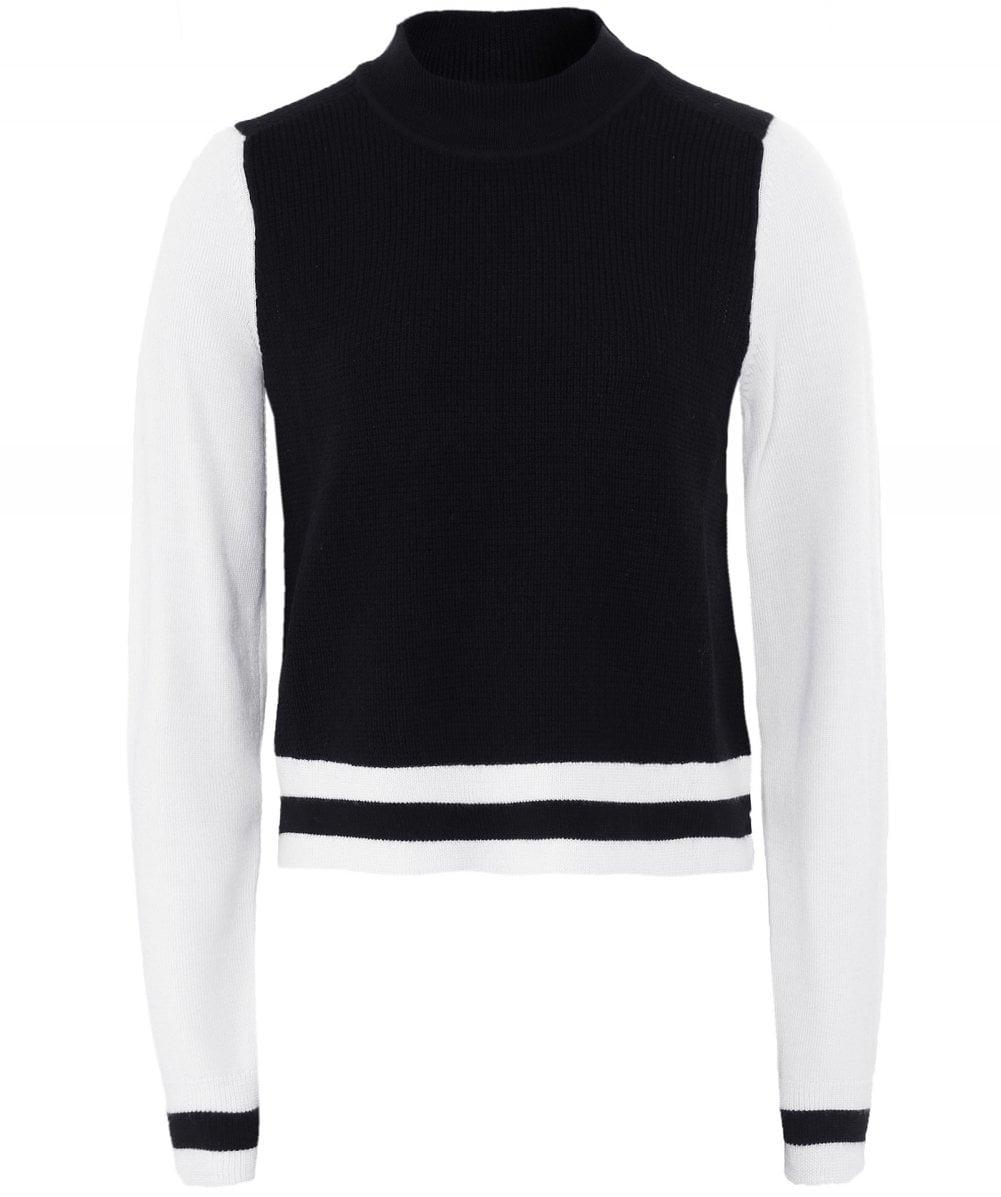 db4c3e07c76 Lyst - Rag   Bone Merino Wool Dean Cropped Jumper in Black
