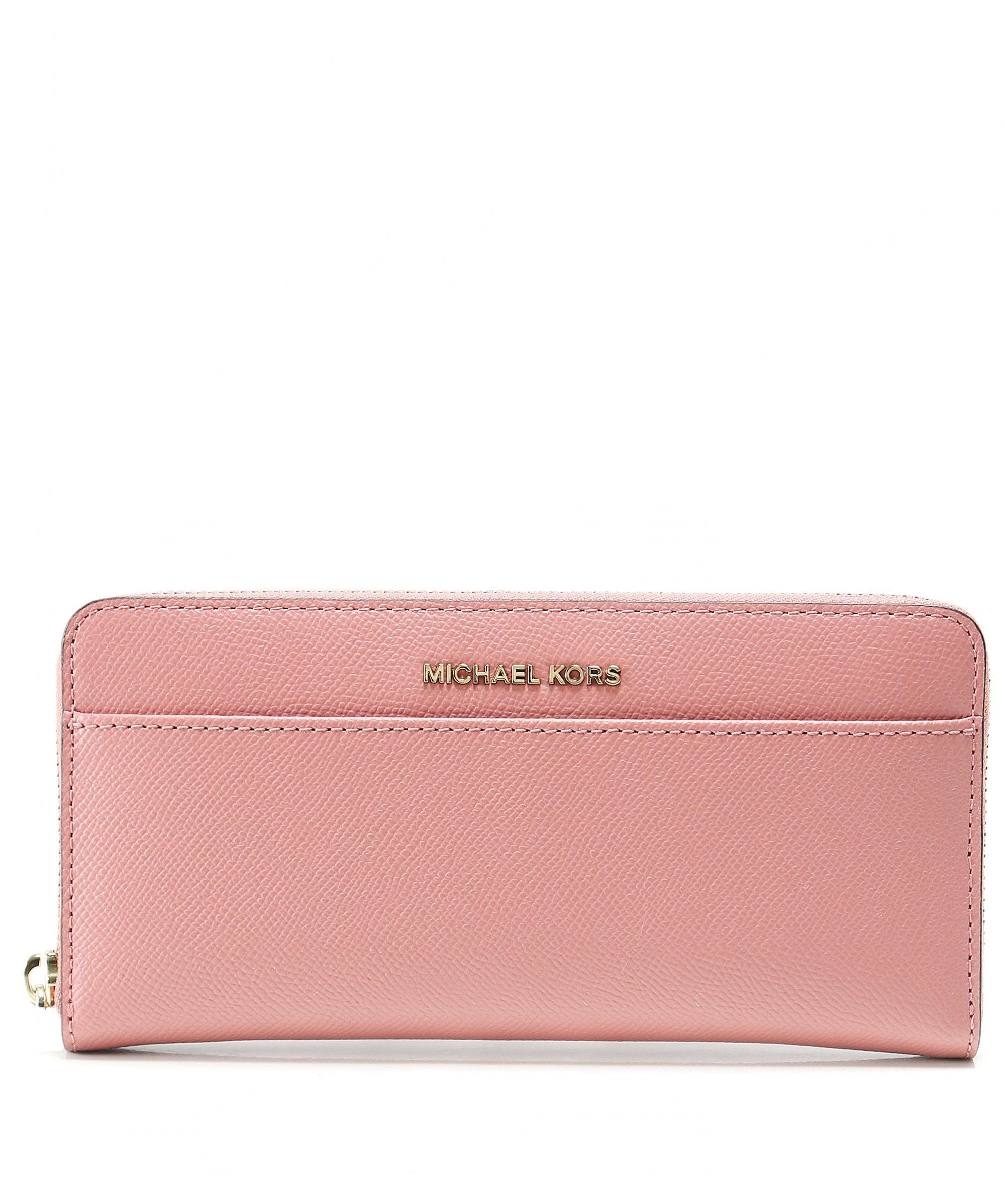 9401a07c4480 Lyst - MICHAEL Michael Kors Saffiano Leather Continental Purse in Pink