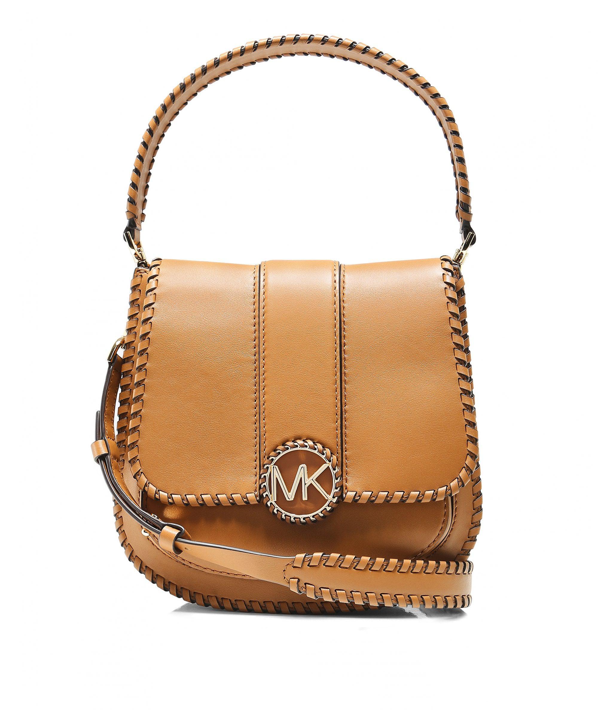 755e90358efb MICHAEL Michael Kors Lillie Medium Leather Shoulder Bag in Brown - Lyst
