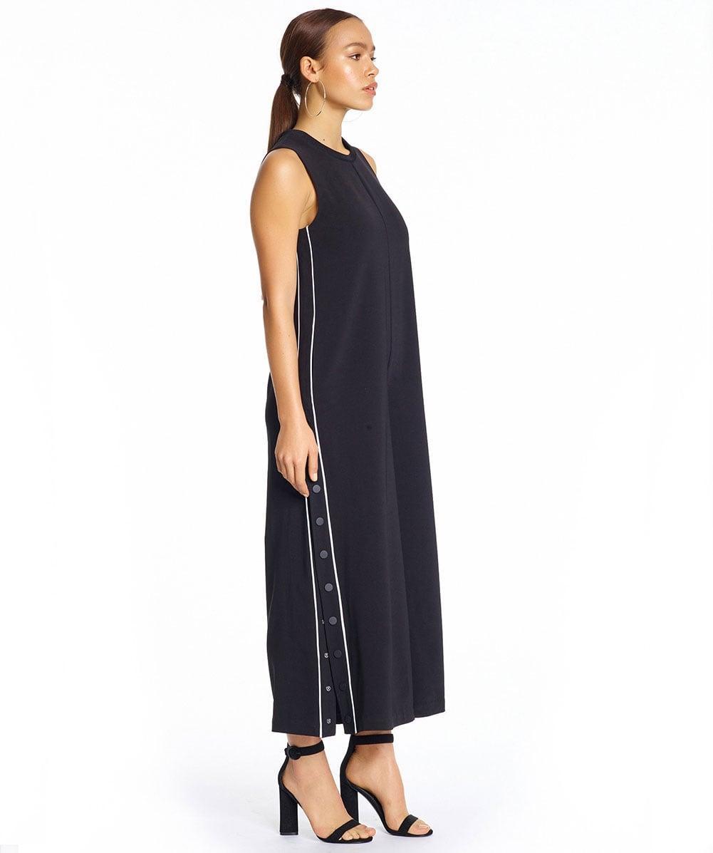 83898cd2872 Lyst - Kendall + Kylie Wide Leg Snap Jumpsuit in Black