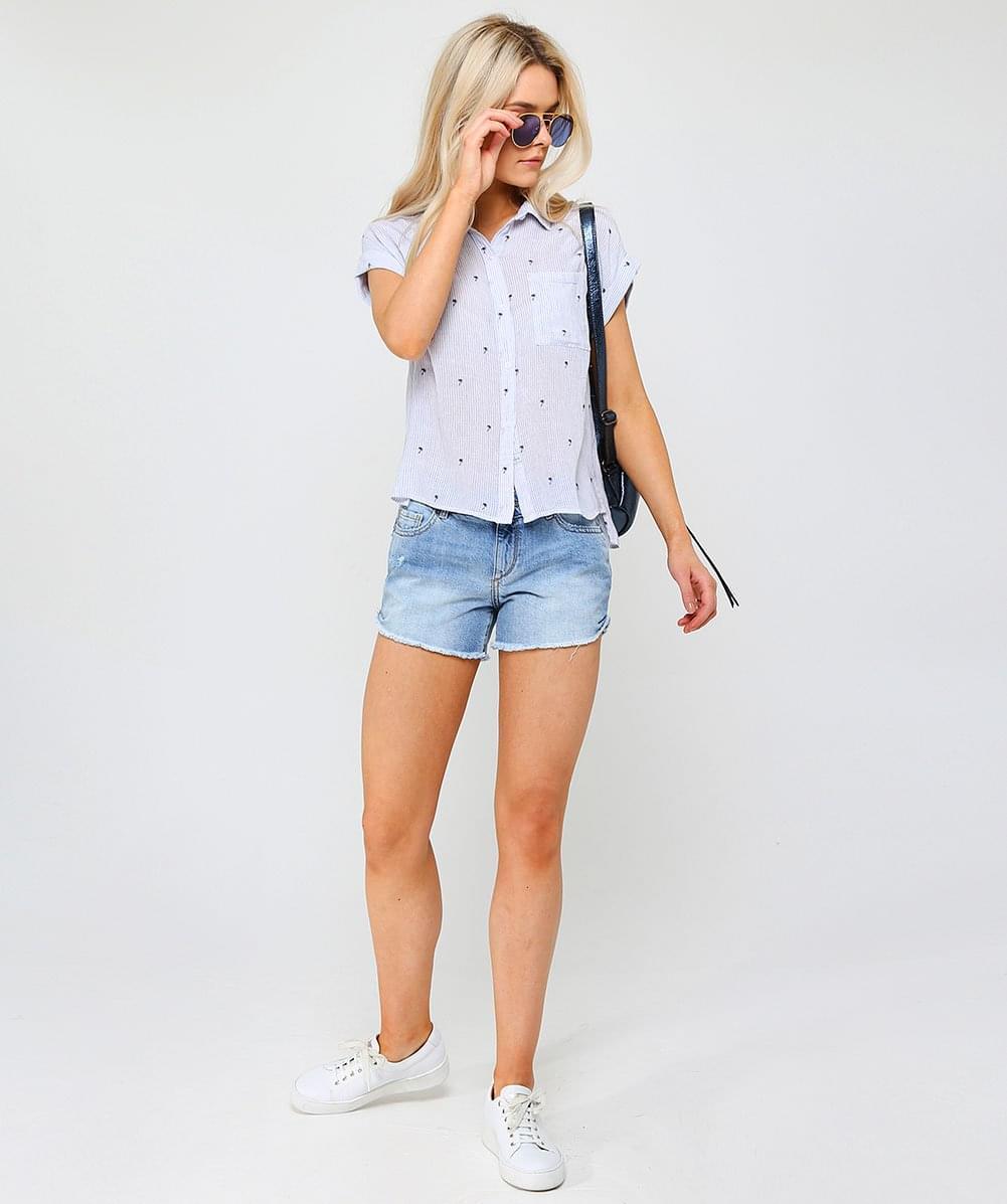 d1b082d552 Lyst - DL1961 Karlie Westside Denim Shorts in Blue