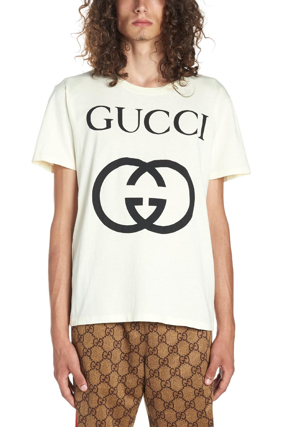 3fd1f6062f24 Gucci 'interlocking G' T-shirt in White for Men - Lyst