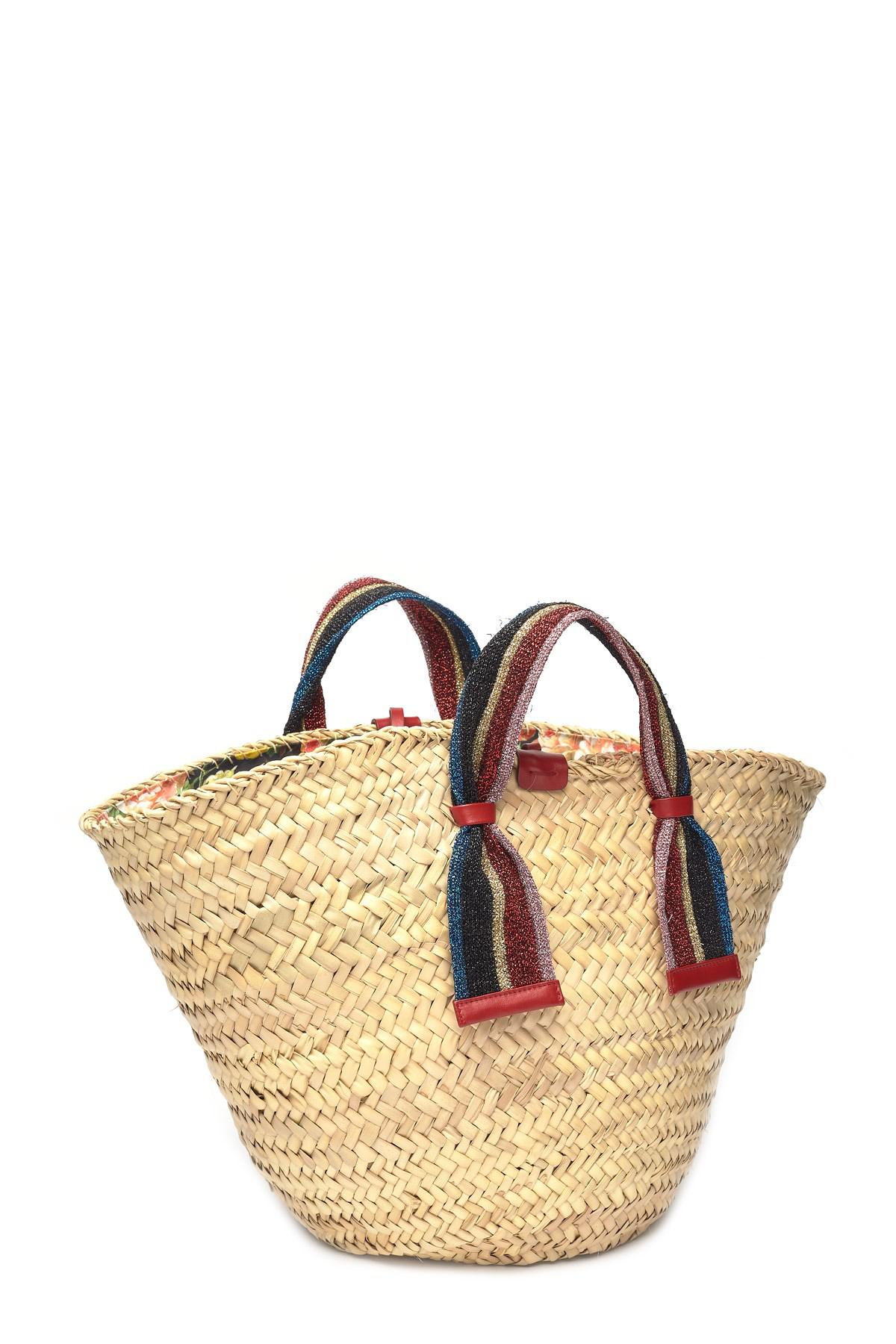 ca3e1a6dc3b Dolce   Gabbana - Natural Kendra Lurex-trimmed Embellished Straw Tote -  Lyst. View fullscreen